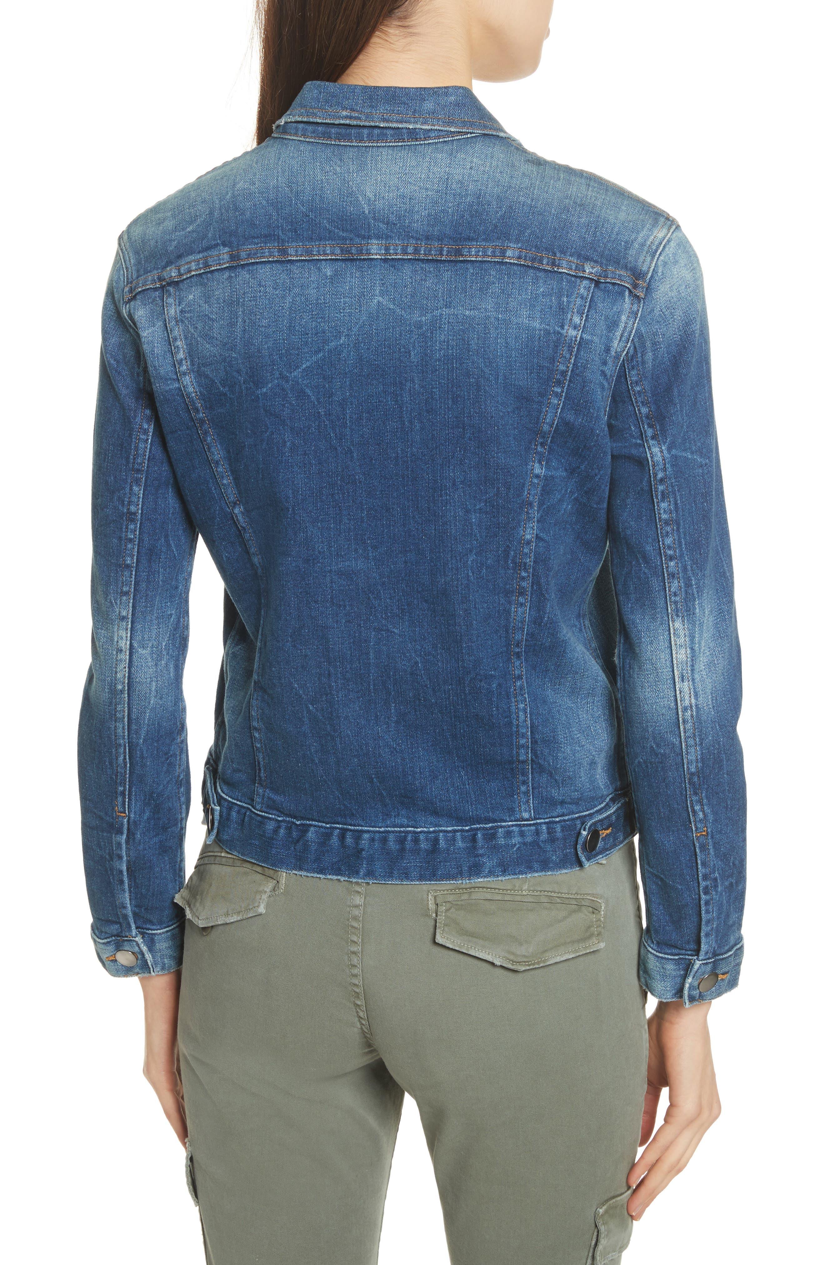 Le Vintage Denim Jacket,                             Alternate thumbnail 3, color,                             Waltham Way