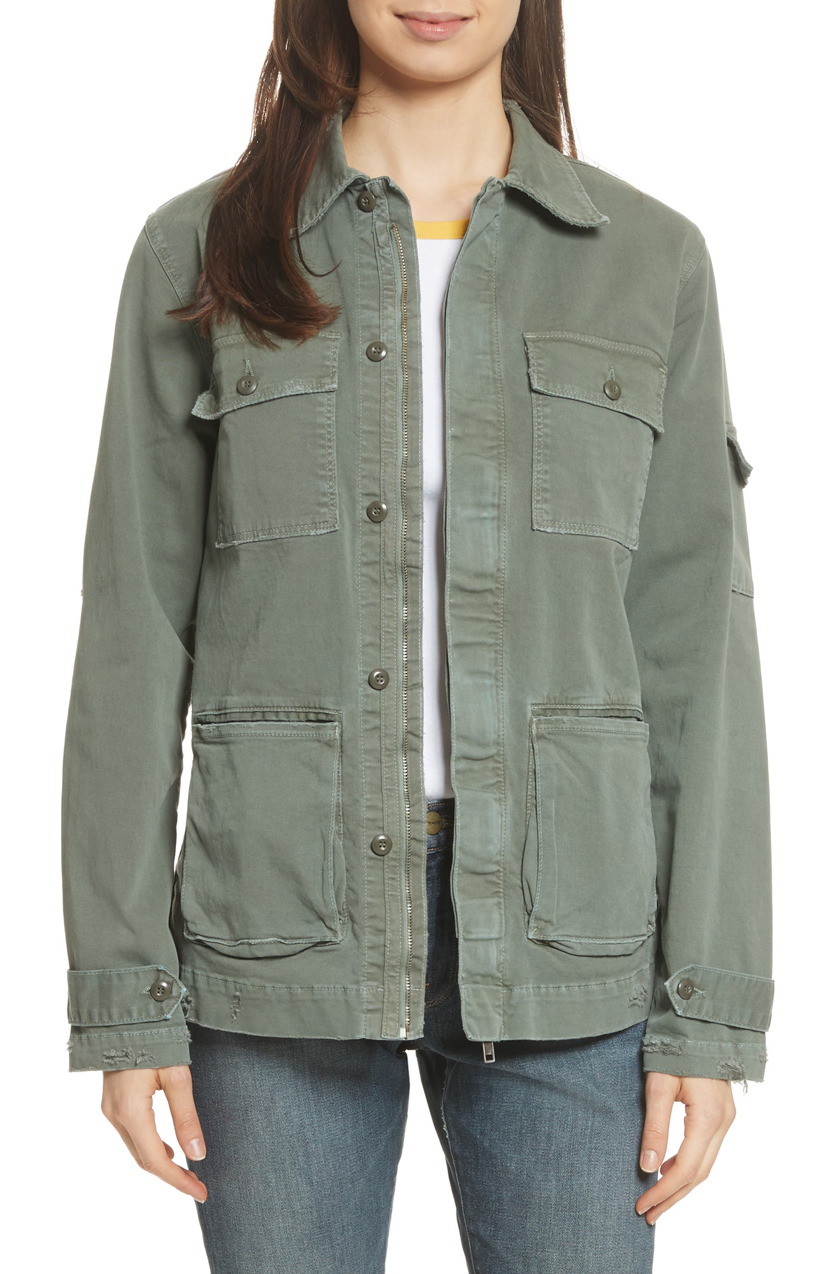 Slouchy Utility Jacket,                         Main,                         color, Platoon