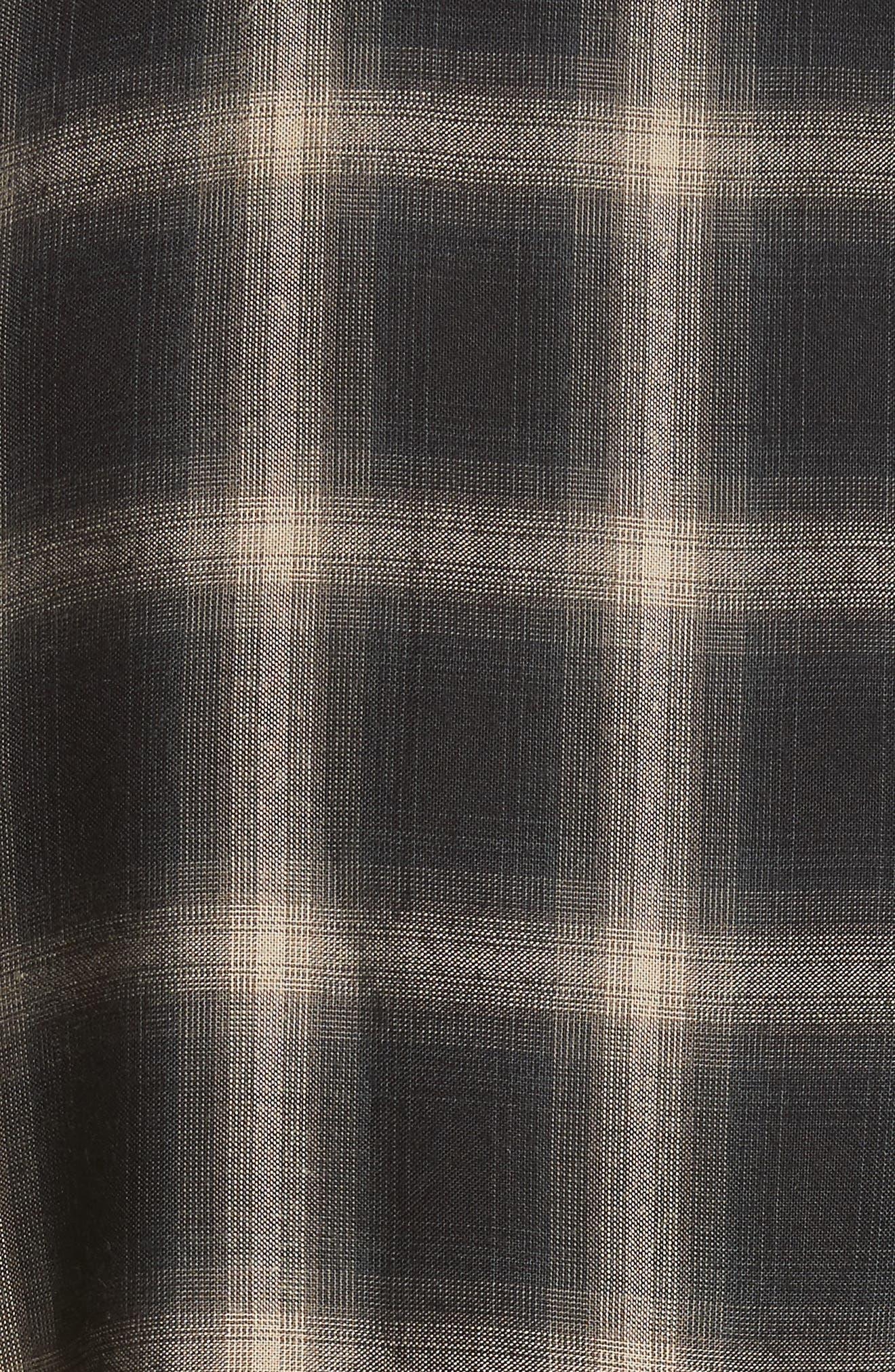 Check Woven Shirt,                             Alternate thumbnail 5, color,                             Grey