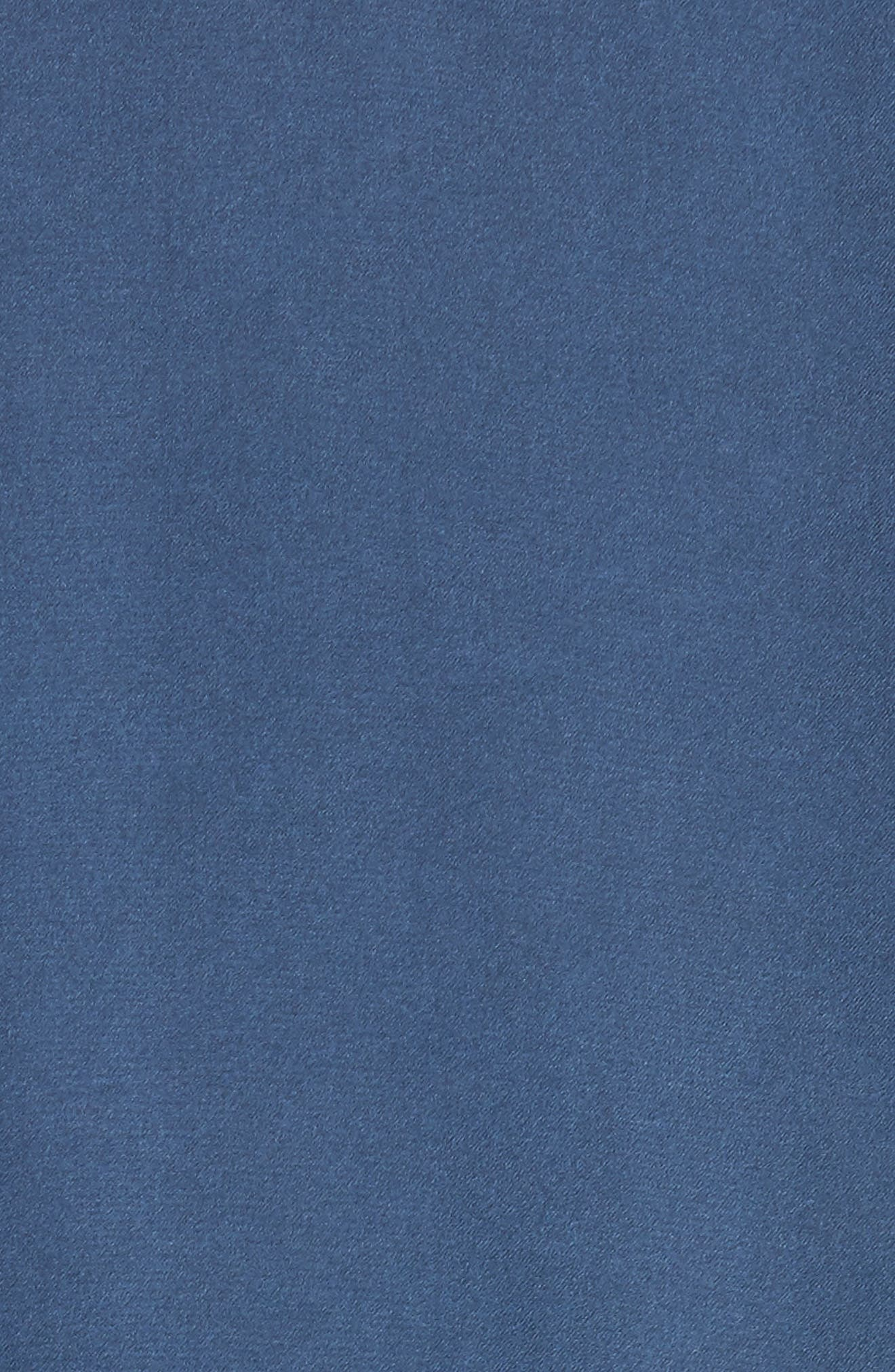 Satin Souvenir Bomber Jacket,                             Alternate thumbnail 5, color,                             Blue