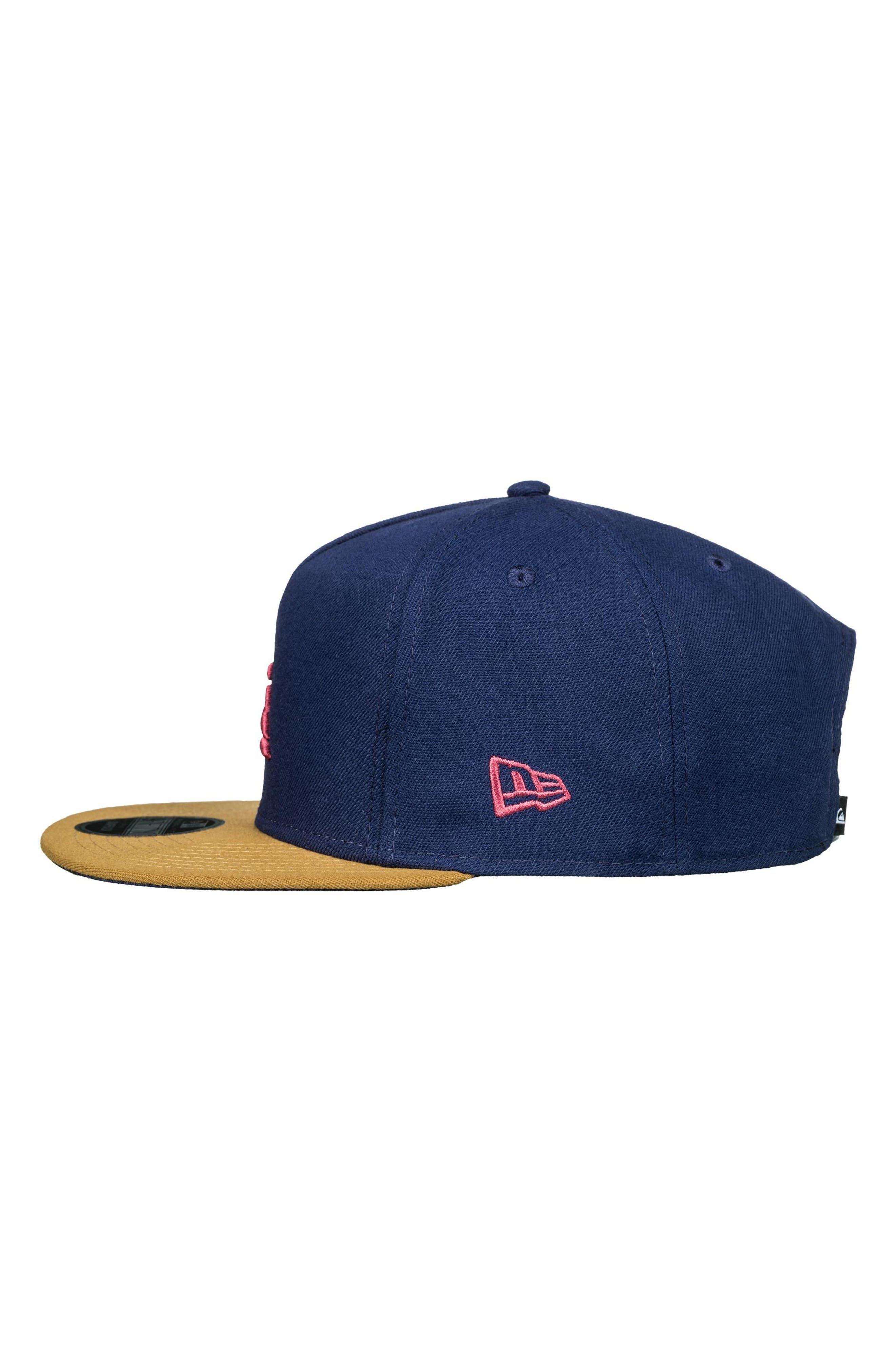 x New Era Stuckles Snapback Cap,                             Alternate thumbnail 3, color,                             Navy Blazer