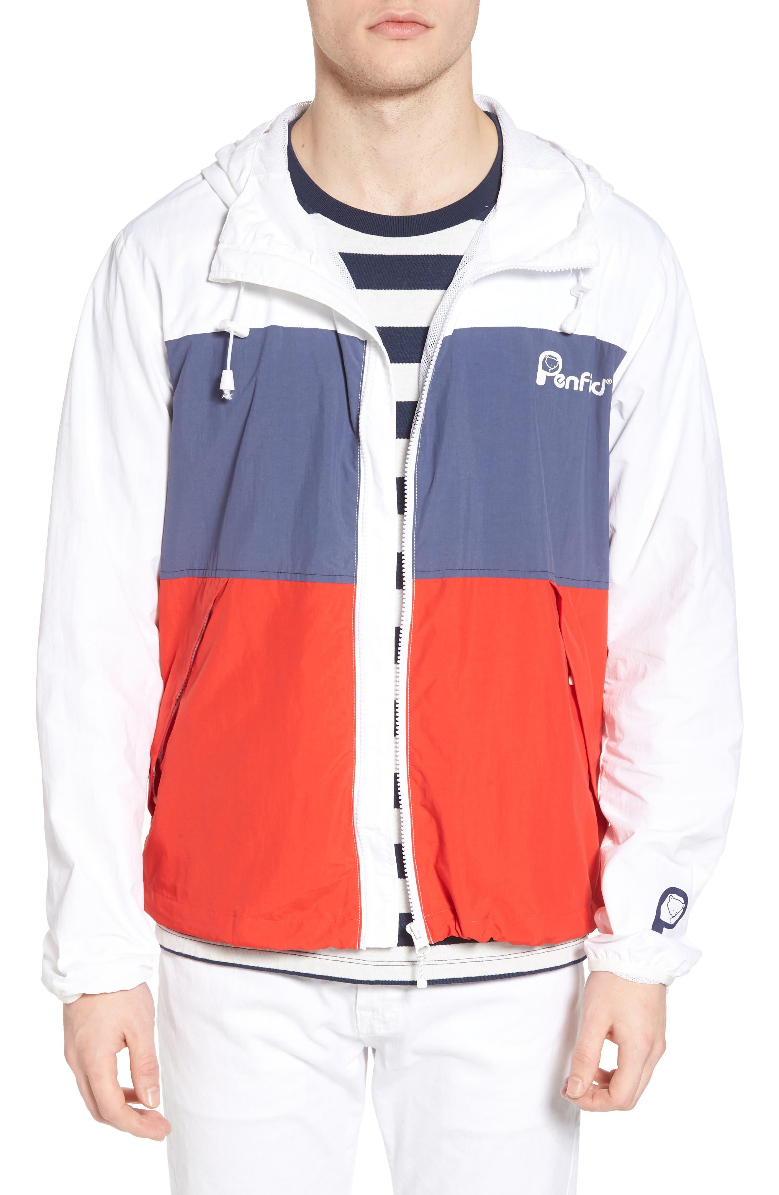 Alosa Colorblock Jacket,                         Main,                         color, White