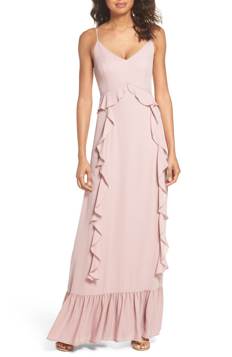 Loyal Ruffle Empire Maxi Dress