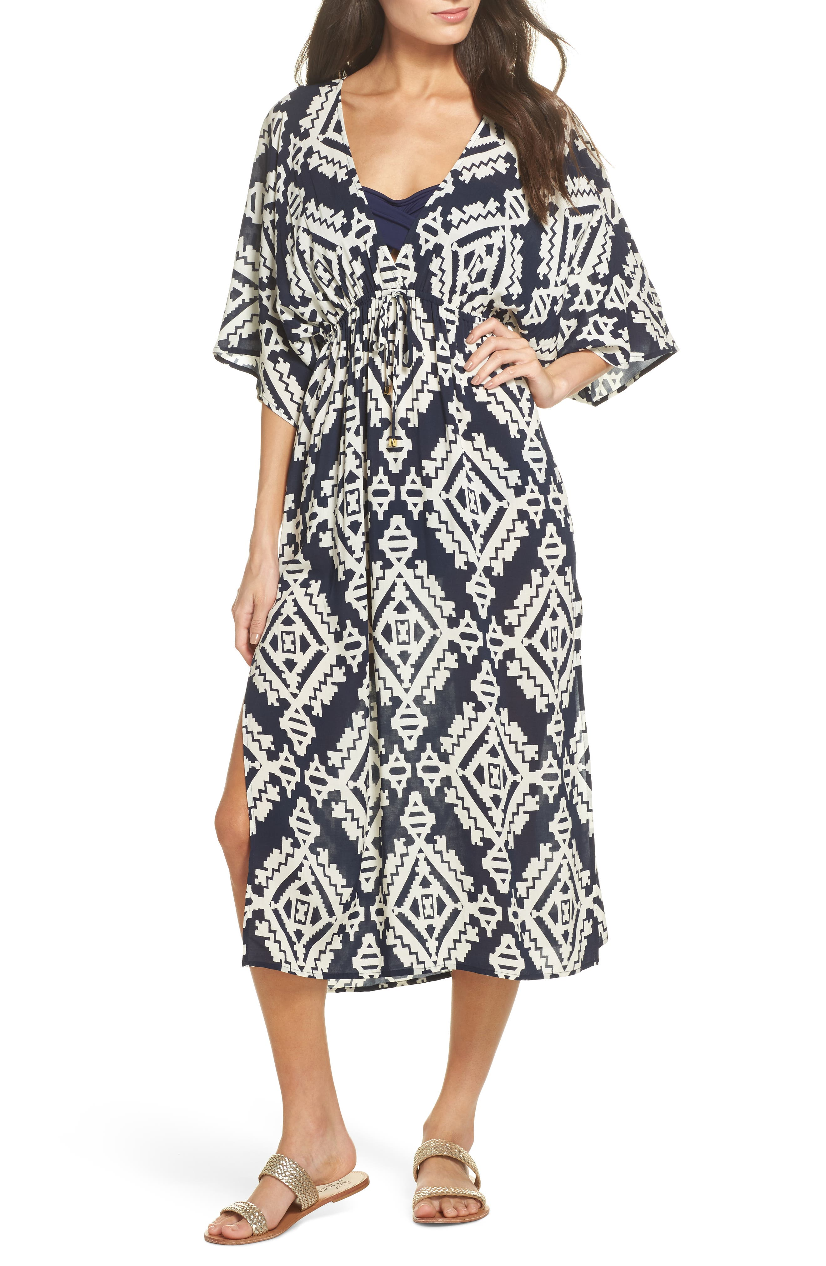 Tapestry Geo Beach Dress,                             Main thumbnail 1, color,                             Tapestry Geo