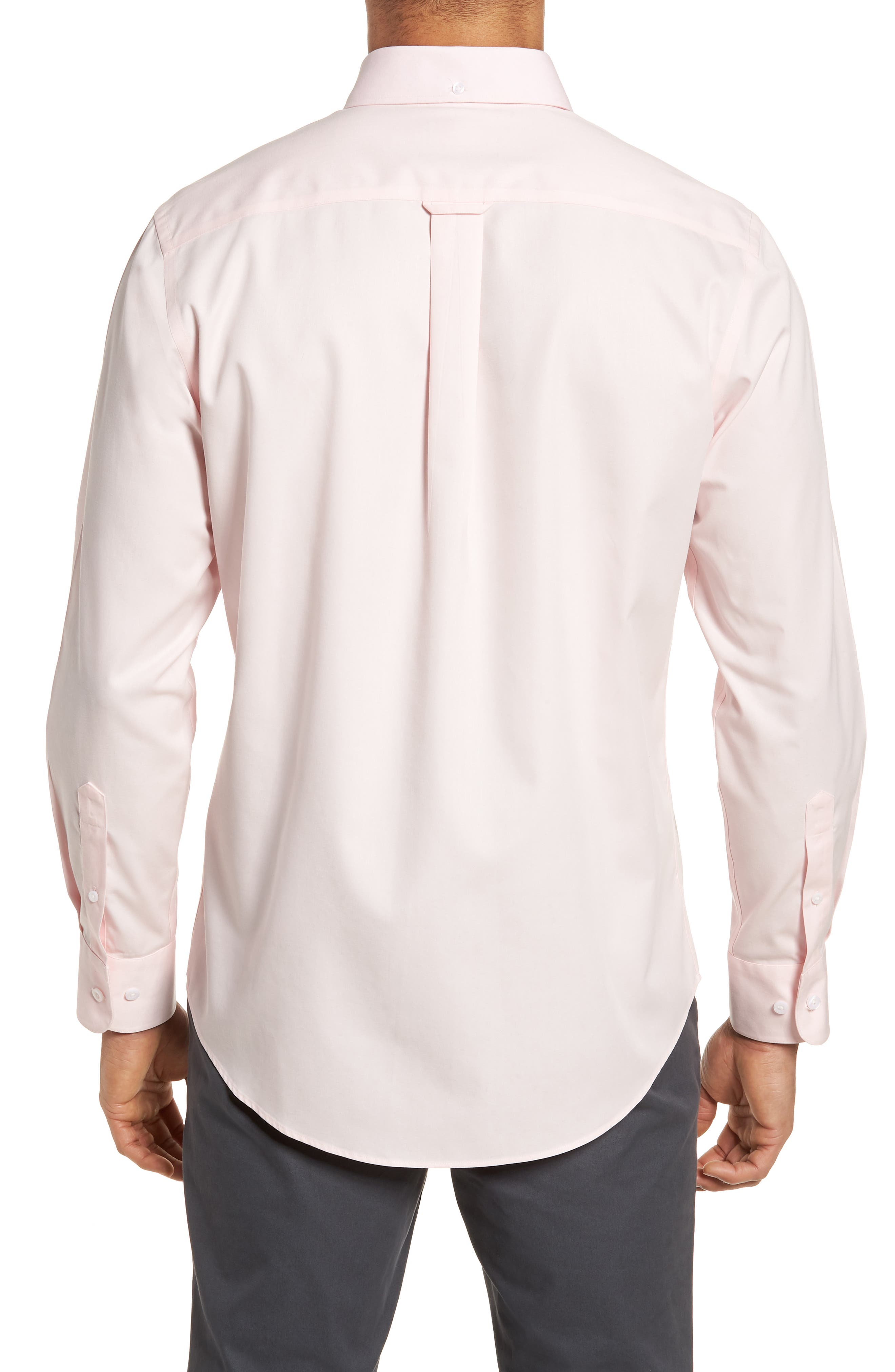 Smartcare<sup>™</sup> Traditional Fit Twill Boat Shirt,                             Alternate thumbnail 3, color,                             Pink Breath