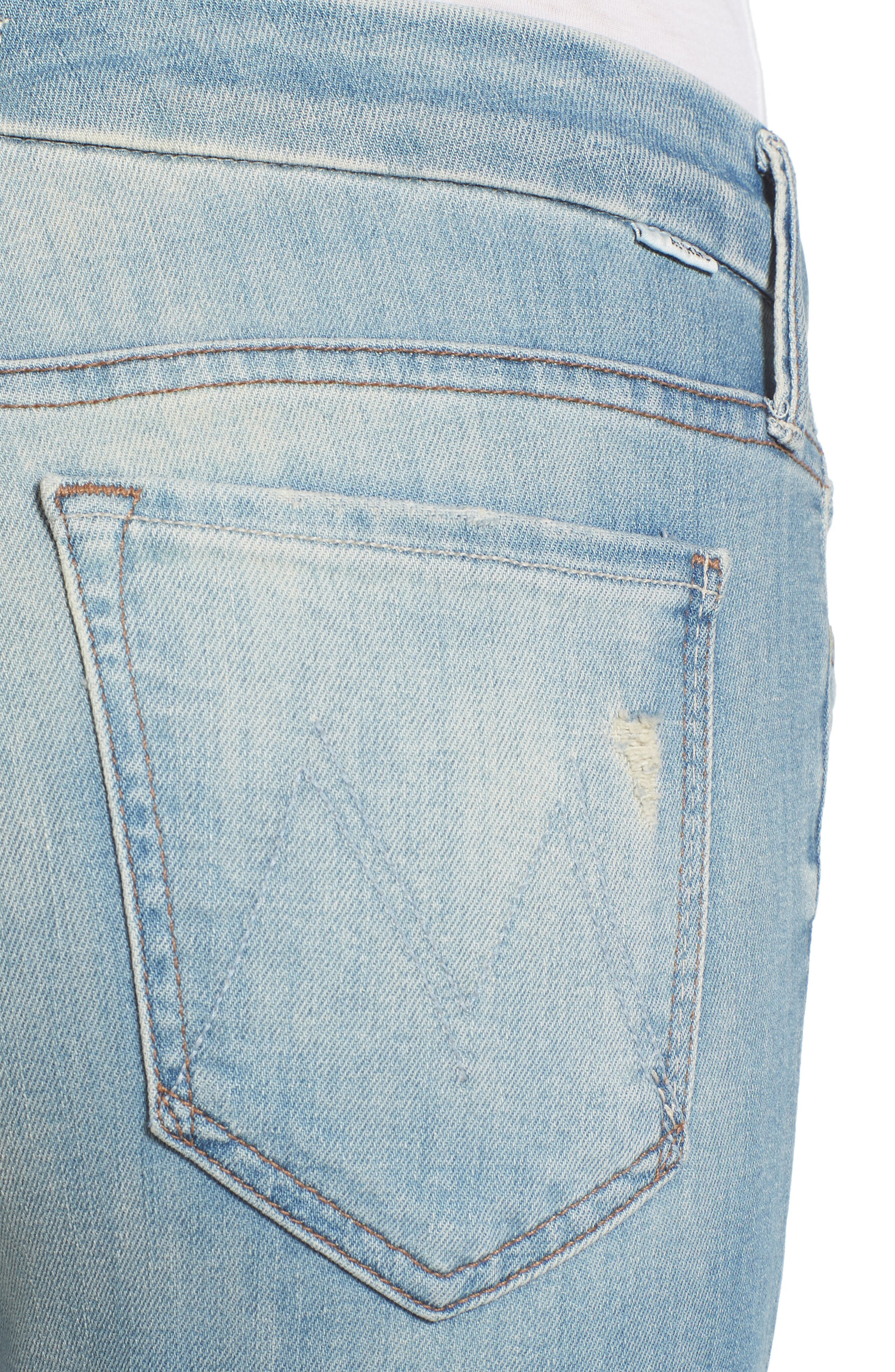 The Looker Crop Skinny Jeans,                             Alternate thumbnail 4, color,                             Shake Well