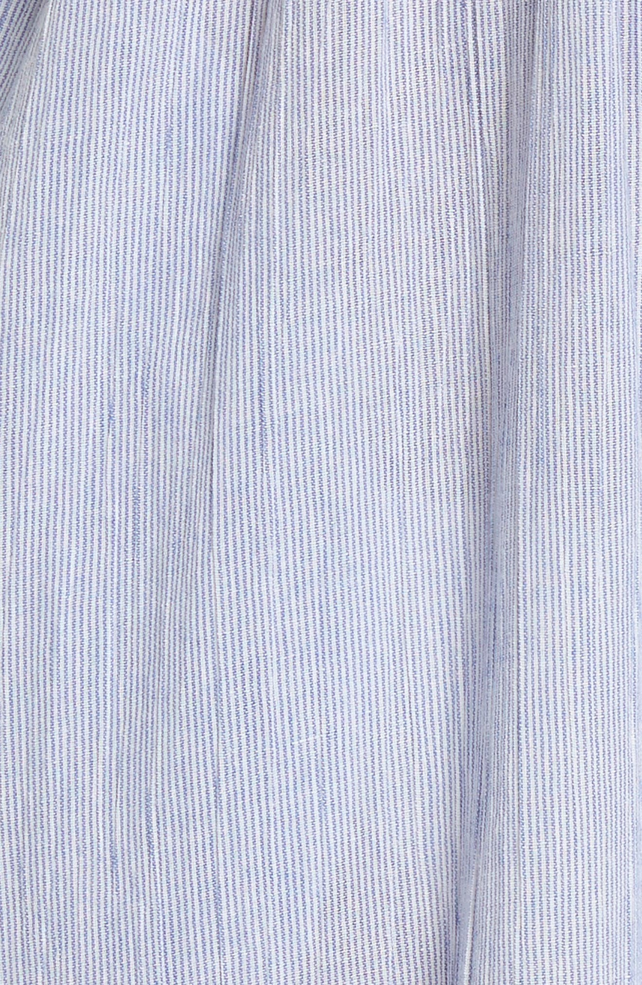 Florentina Jumpsuit Cover-Up,                             Alternate thumbnail 5, color,                             Blue/ White