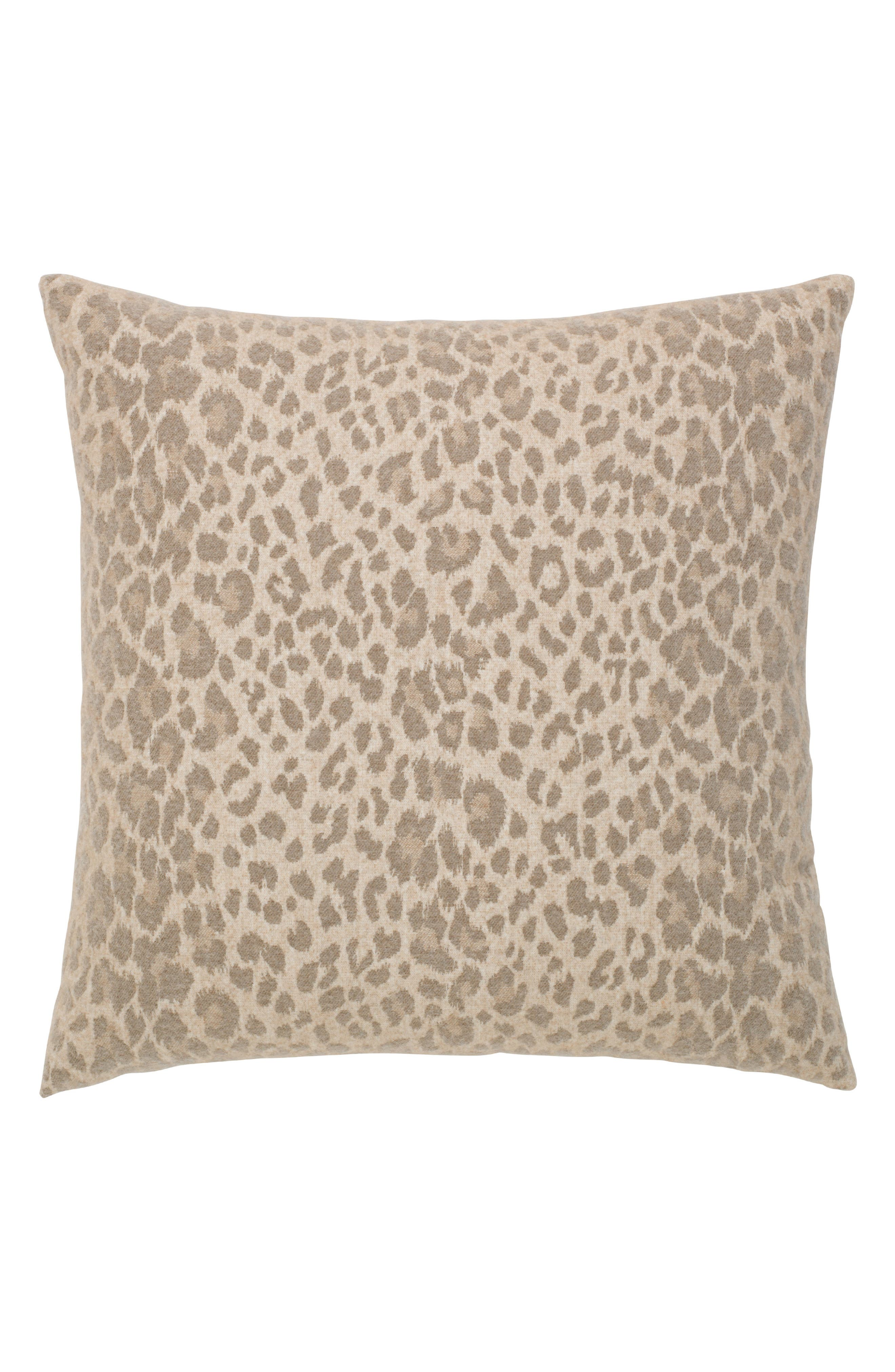 Animal Print Indoor/Outdoor Accent Pillow,                             Main thumbnail 1, color,                             Brown