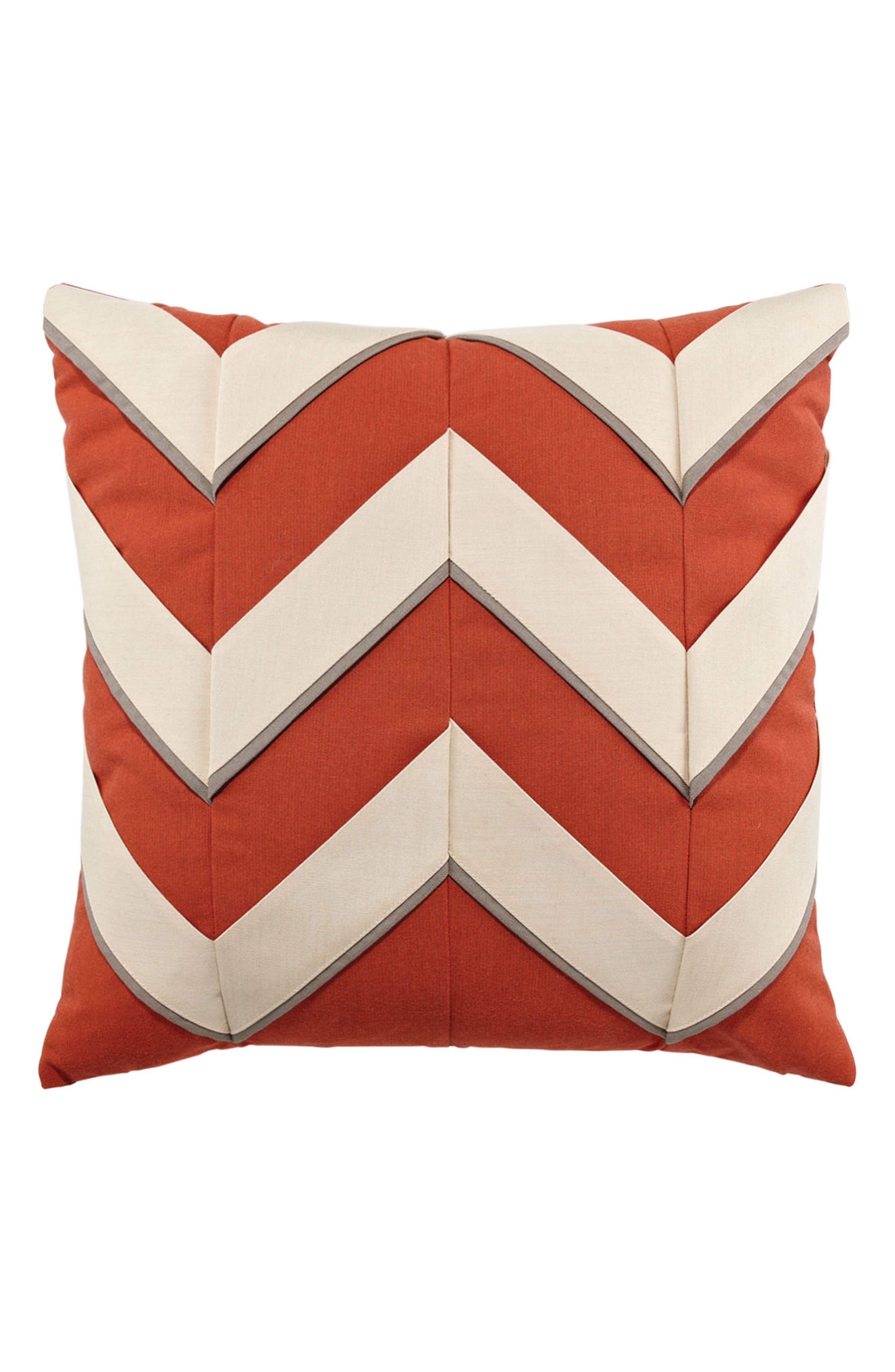 Coral Cruise Indoor/Outdoor Accent Pillow,                         Main,                         color, Orange/ Ivory