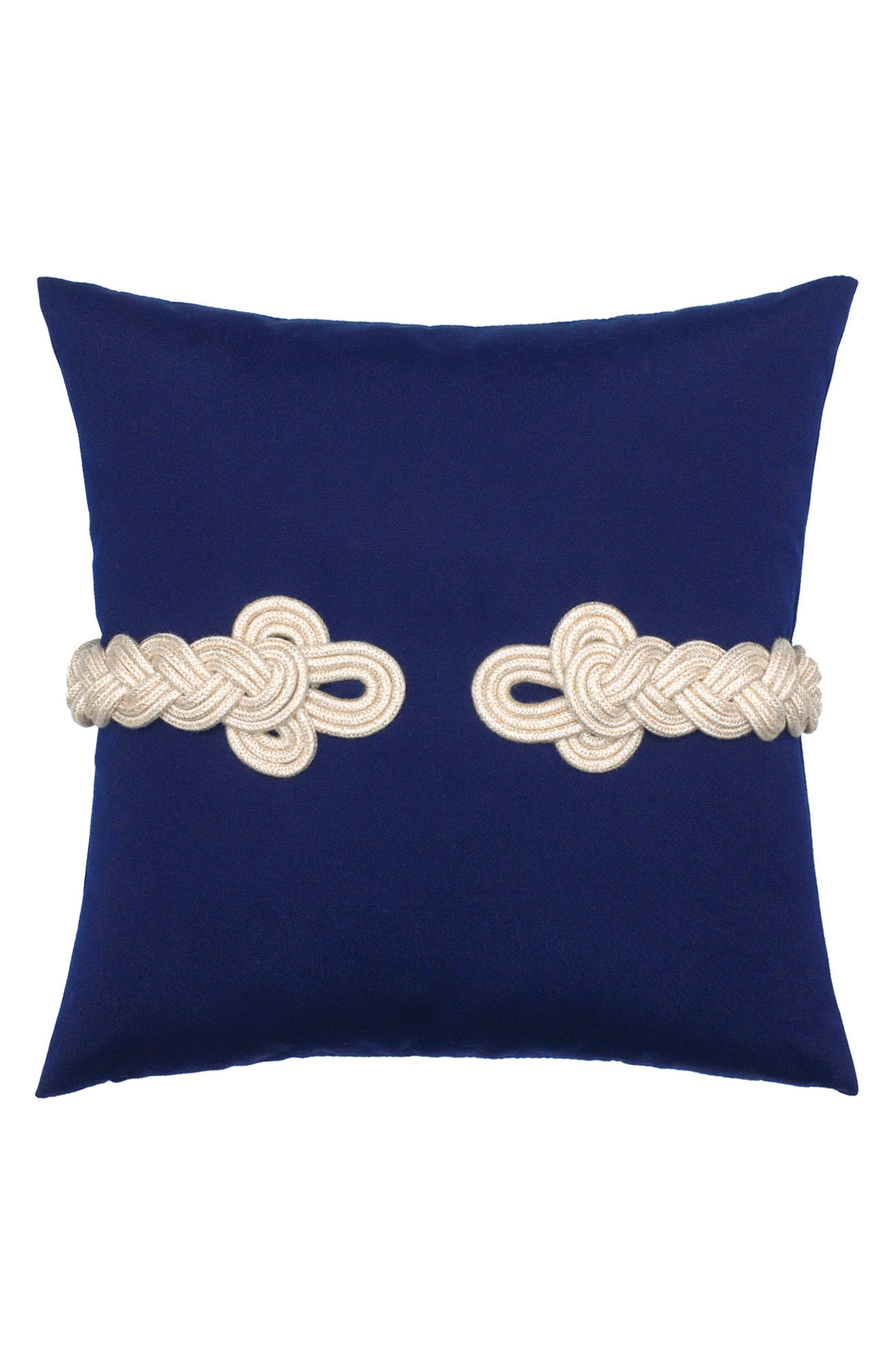Navy Frogs Clasp Indoor/Outdoor Accent Pillow,                         Main,                         color, Blue
