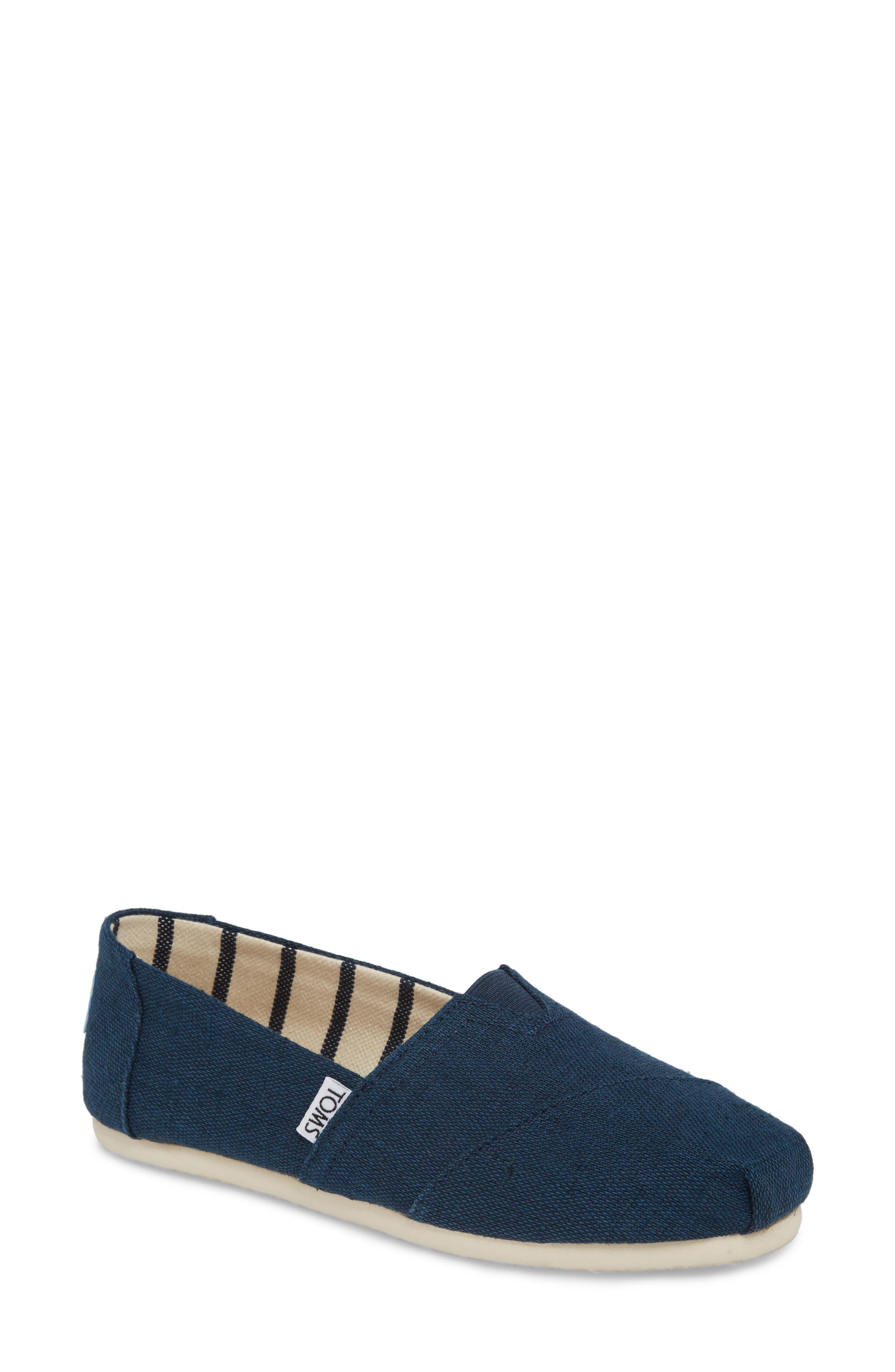 Online 59WEYBBW Women Best Cheap Toms Unisex All Darkblue Classic Canvas Shoes