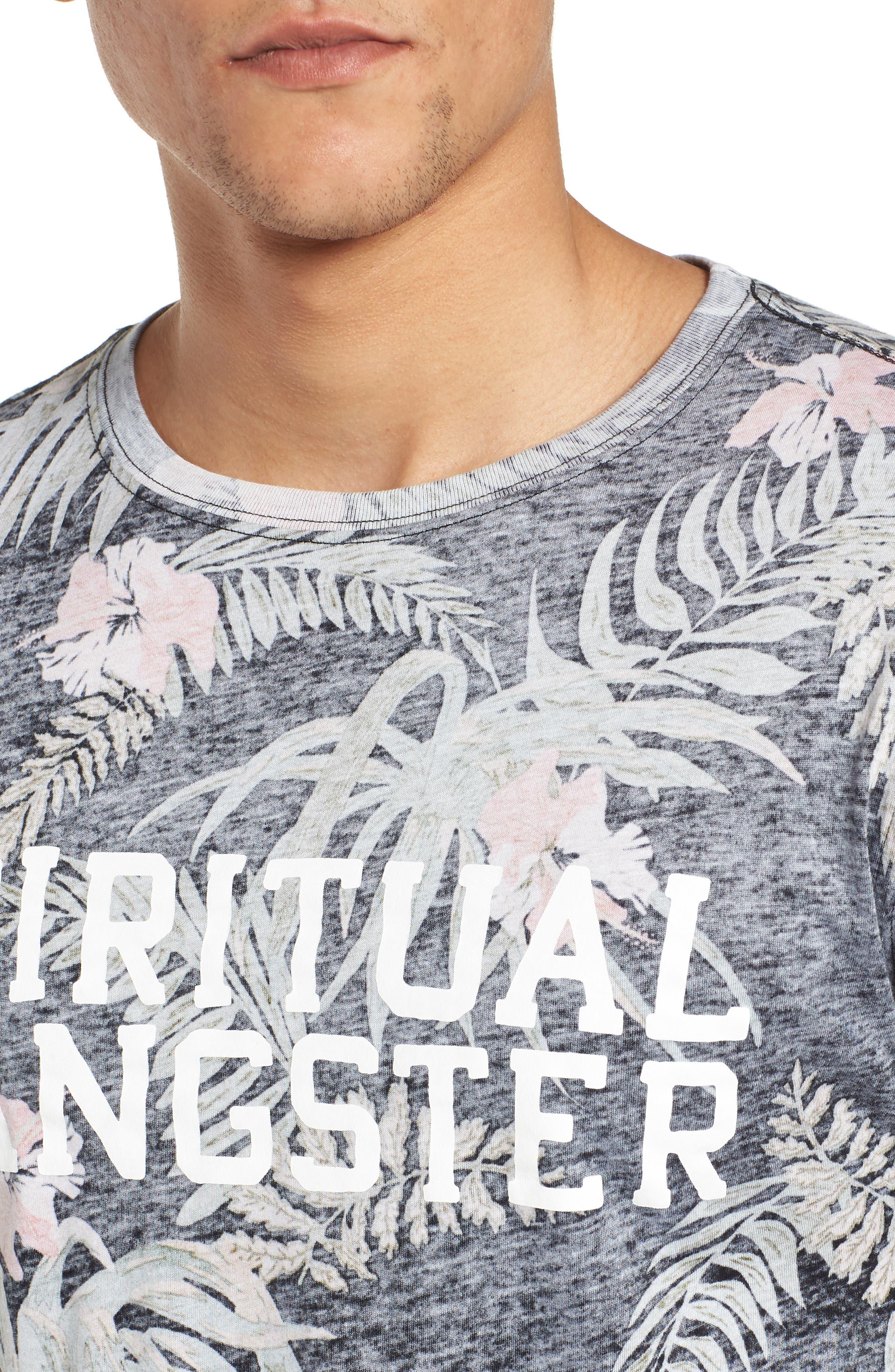 Print T-Shirt,                             Alternate thumbnail 4, color,                             Floral/ Multi