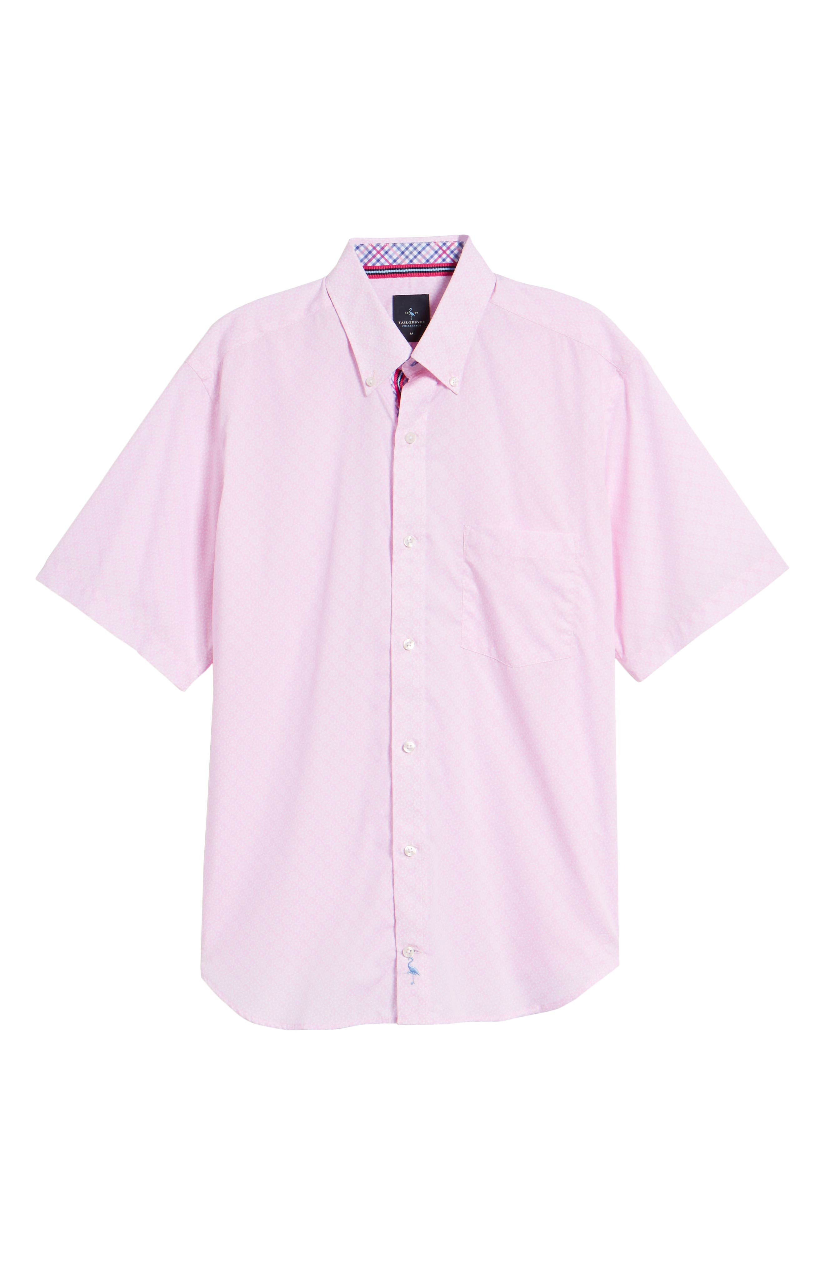 Napolean Regular Fit Medallion Sport Shirt,                             Alternate thumbnail 6, color,                             Pink