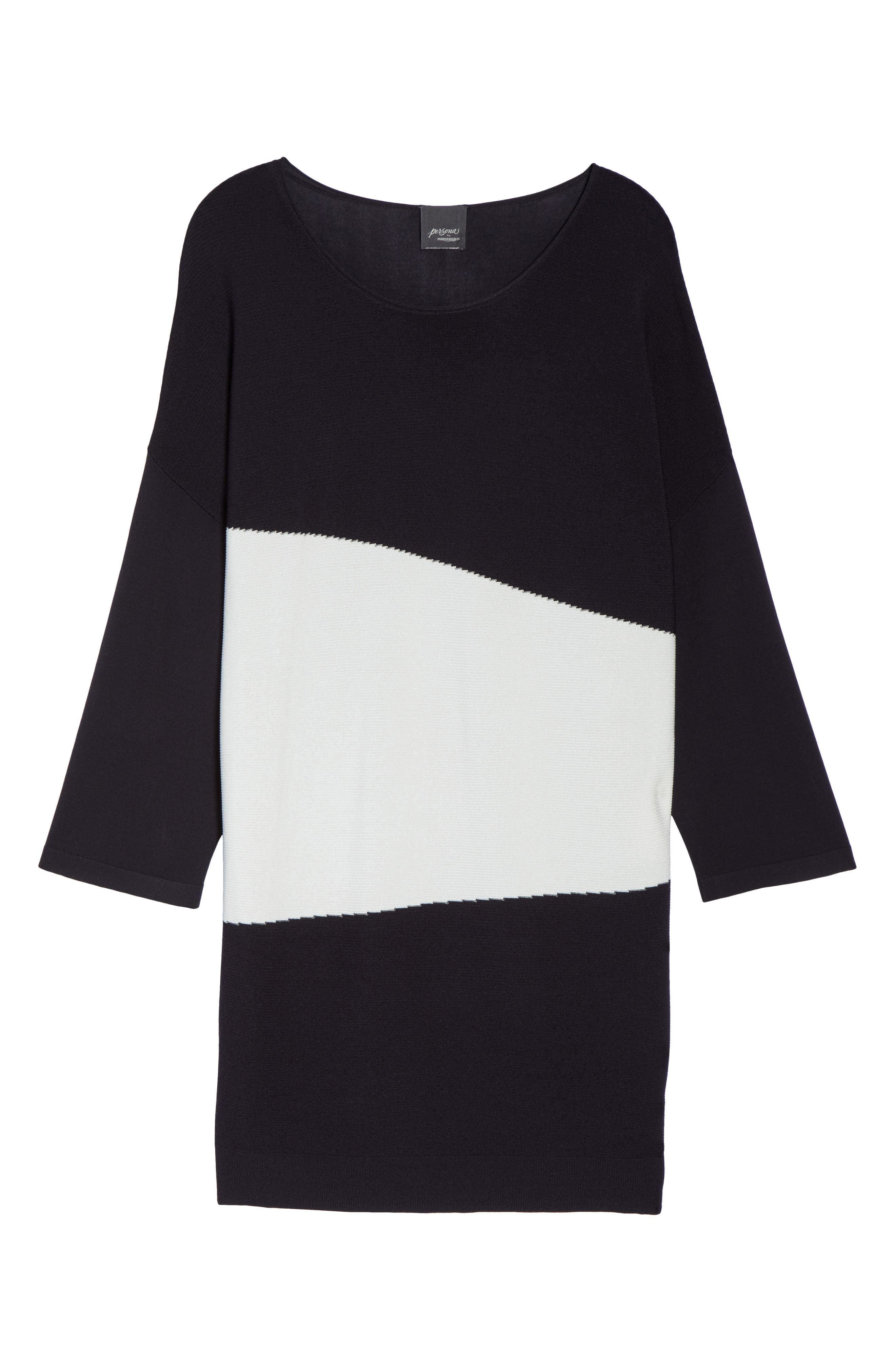 Color Block Sweater,                             Alternate thumbnail 7, color,                             Dark Navy