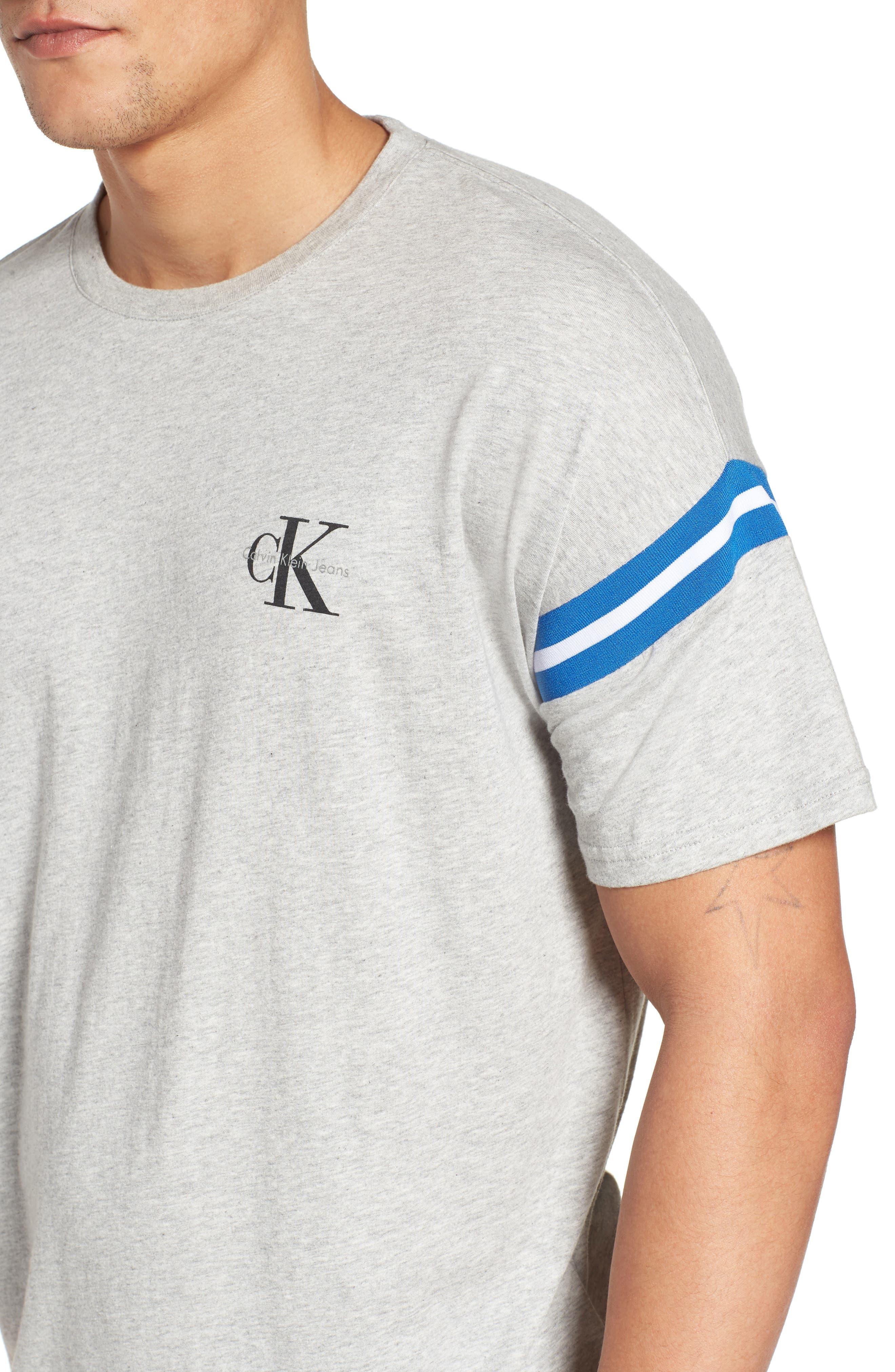 Tipped T-Shirt,                             Alternate thumbnail 4, color,                             Smoke Heather