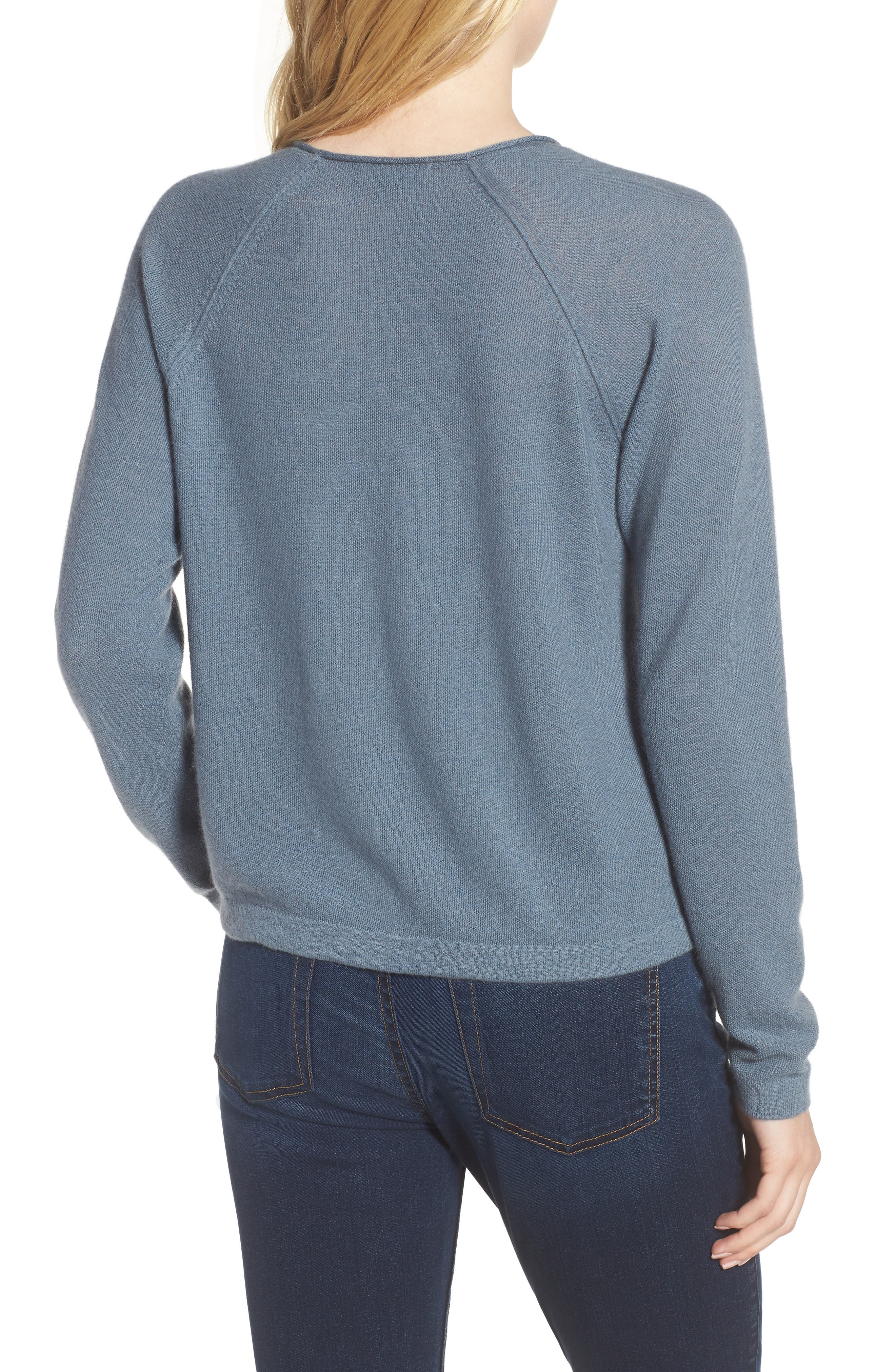 Cashmere Sweater,                             Alternate thumbnail 2, color,                             Heather Cruise