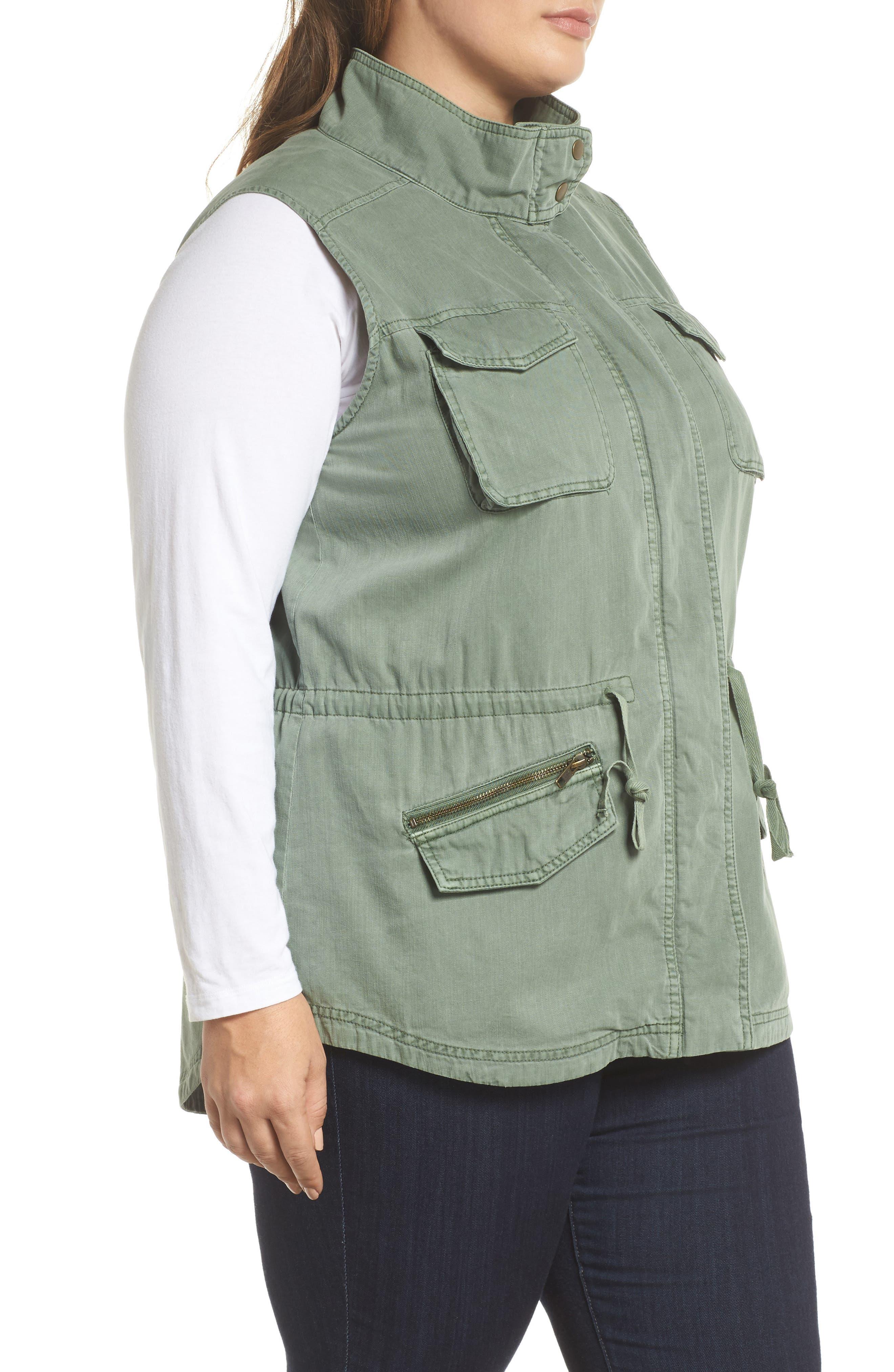 Utility Vest,                             Alternate thumbnail 6, color,                             Green Dune