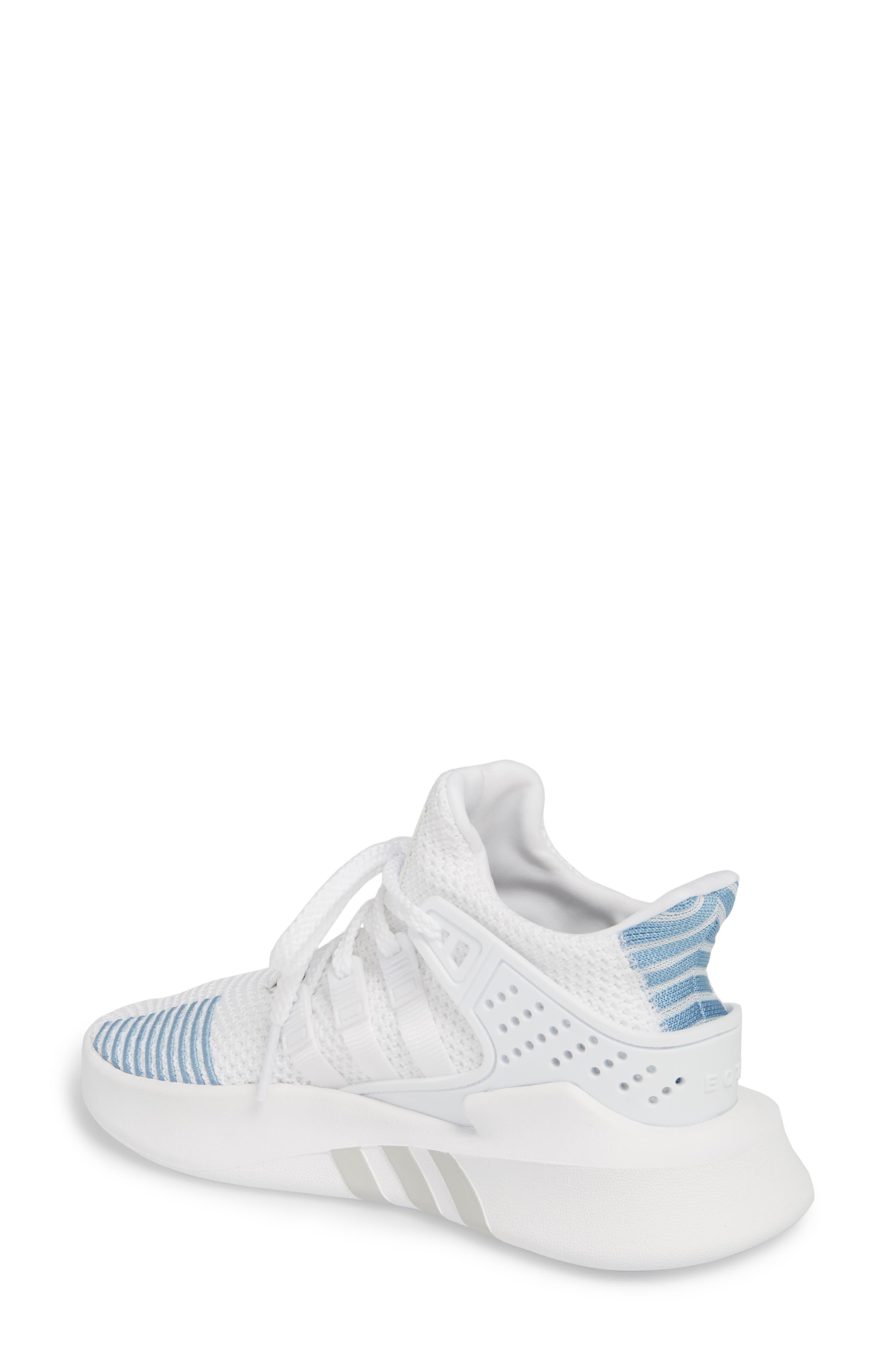 EQT Basketball ADV Sneaker,                             Alternate thumbnail 2, color,                             White/ White/ Ash Blue