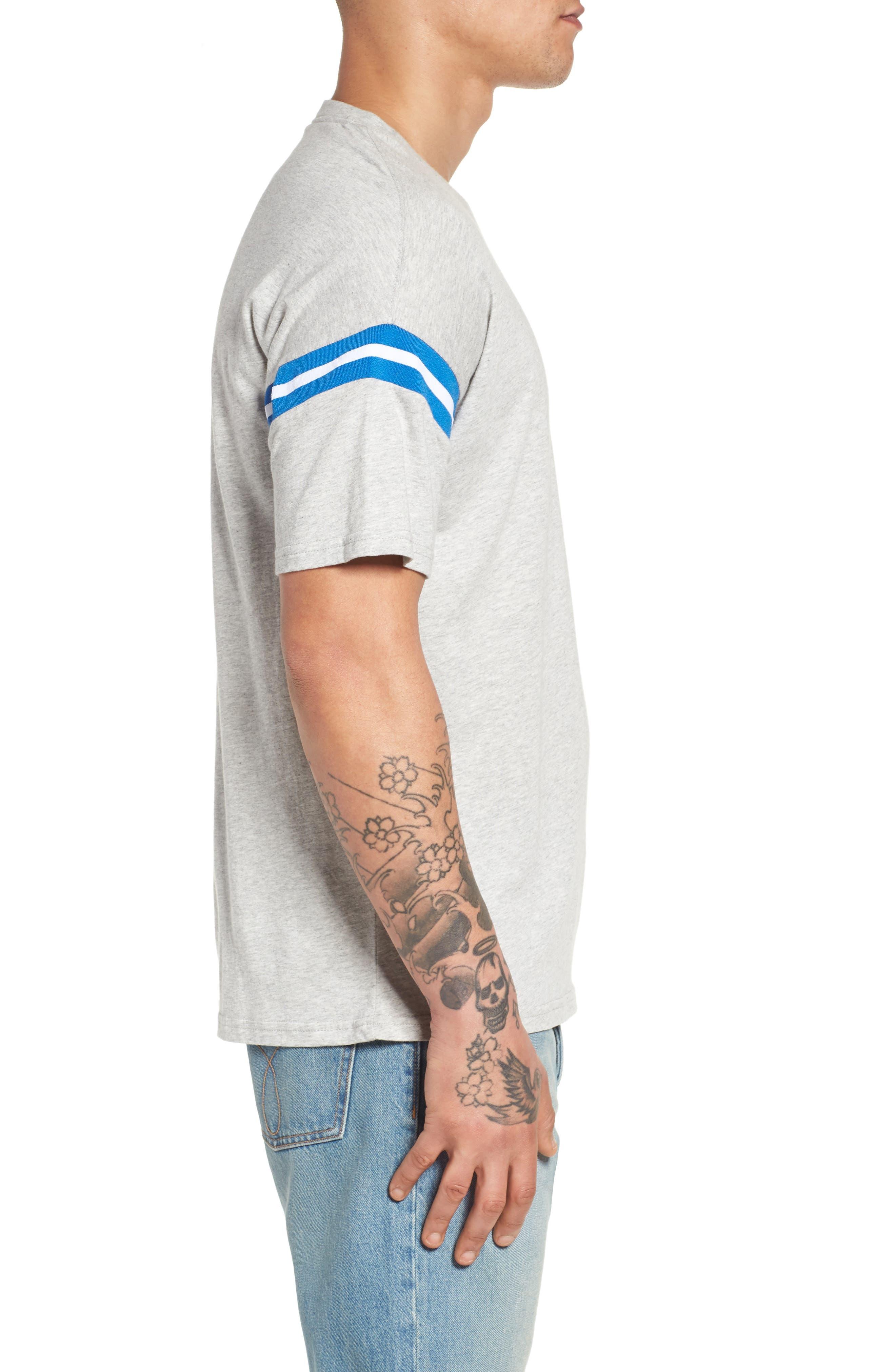 Tipped T-Shirt,                             Alternate thumbnail 3, color,                             Smoke Heather