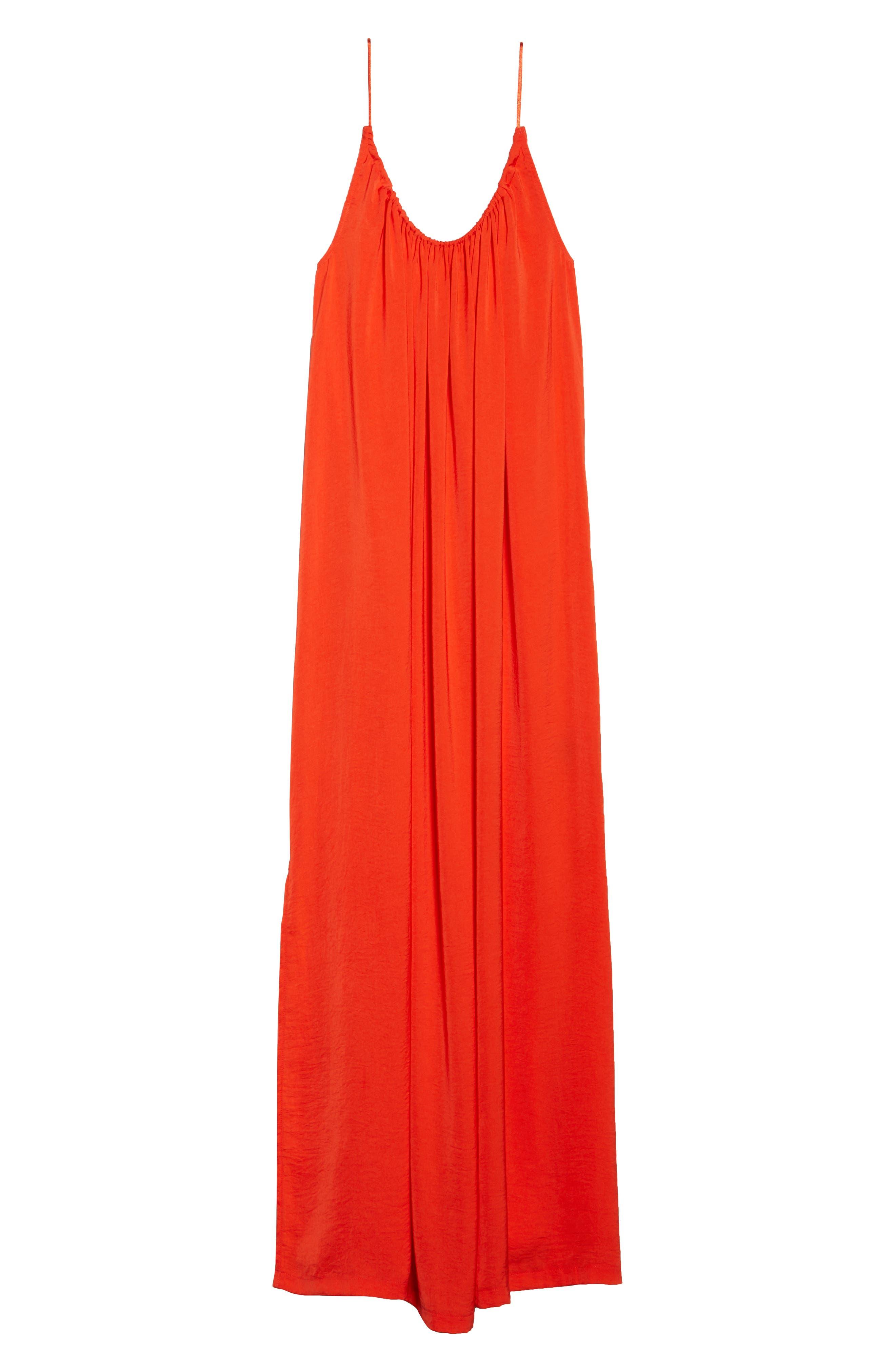 Yvonne Maxi Dress,                             Alternate thumbnail 7, color,                             Blood Orange