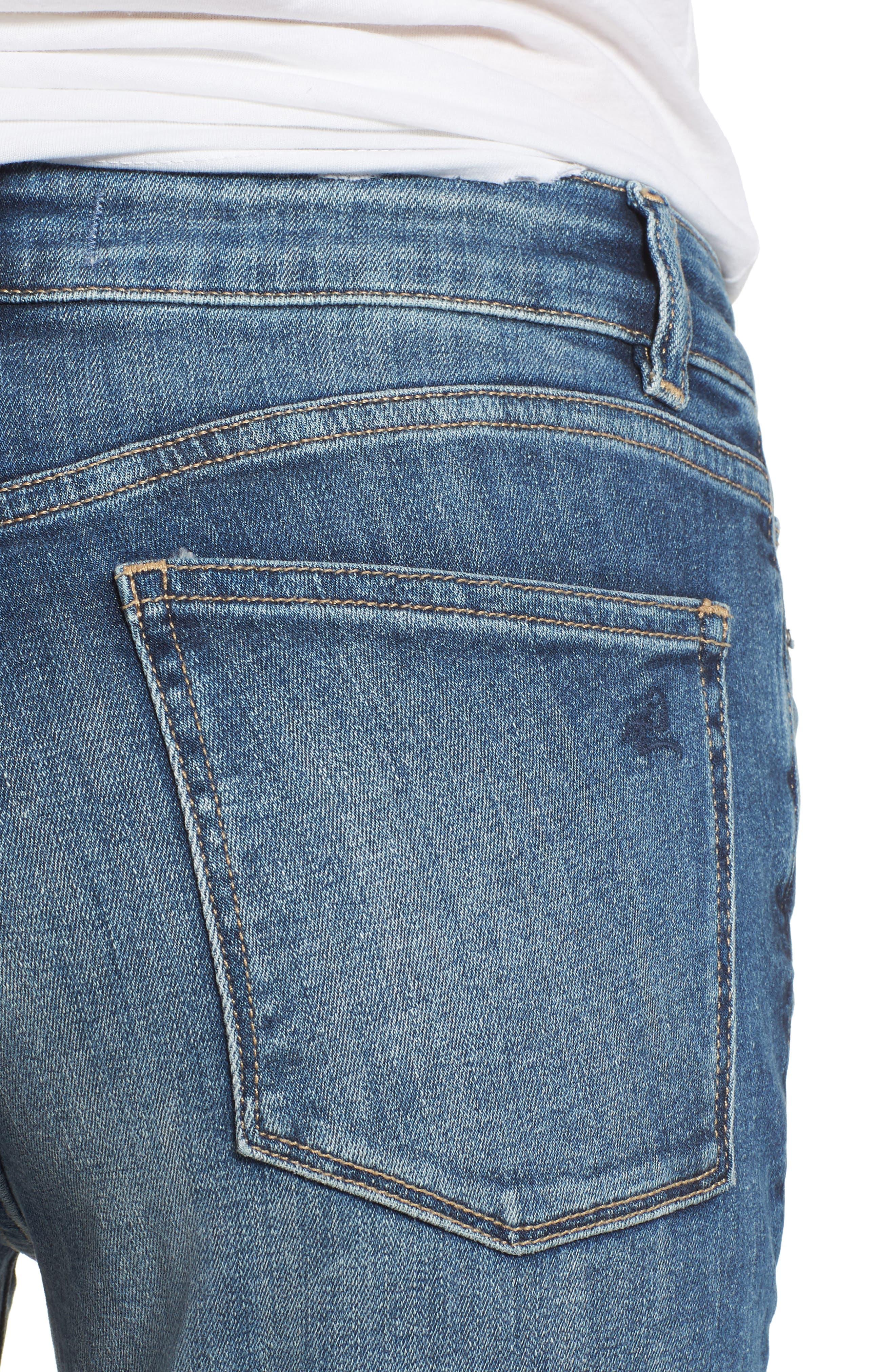 Farrow Instaslim High Waist Skinny Jeans,                             Alternate thumbnail 4, color,                             Wells