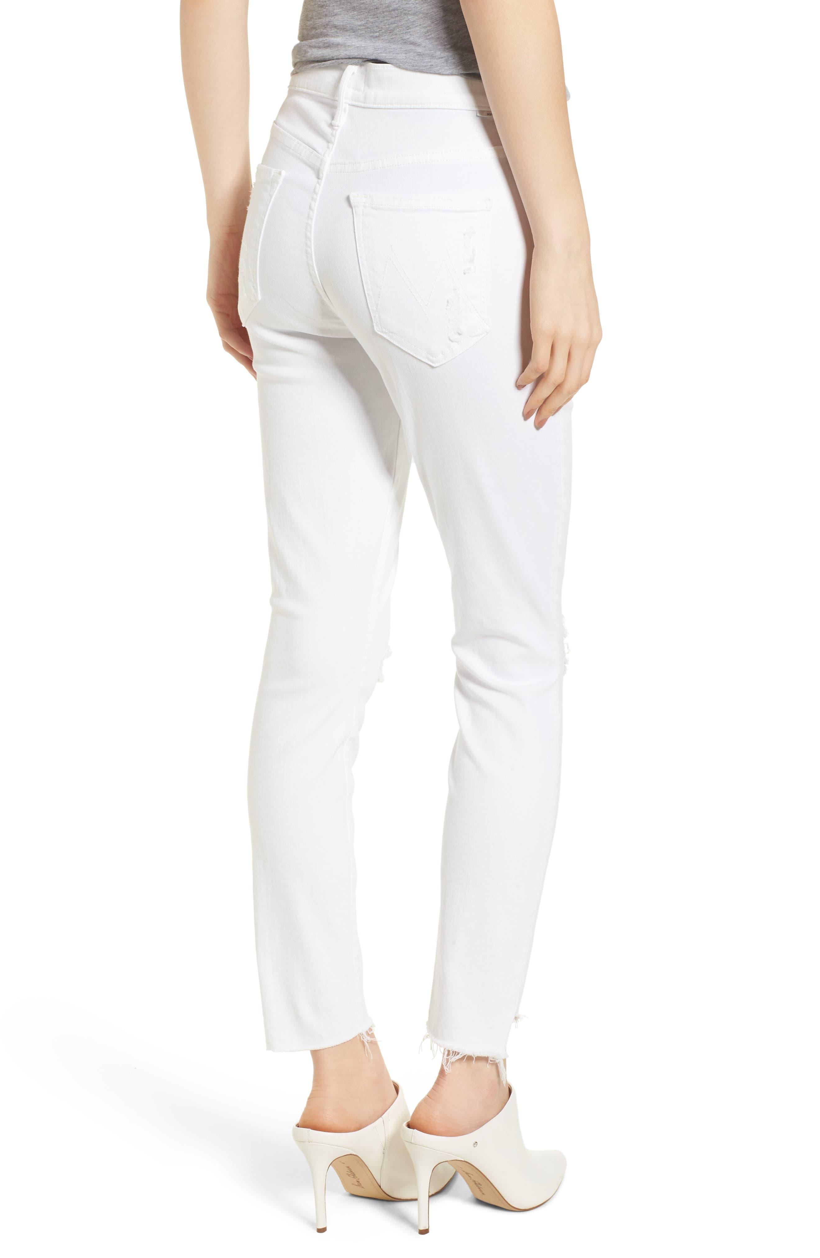 The Stunner High Waist Fray Ankle Skinny Jeans,                             Alternate thumbnail 2, color,                             Little Miss Innocent