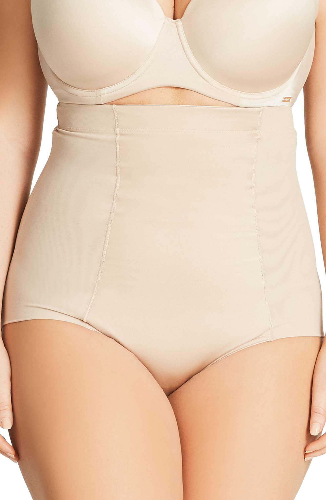Smooth & Chic Control Briefs,                             Main thumbnail 1, color,                             Latte
