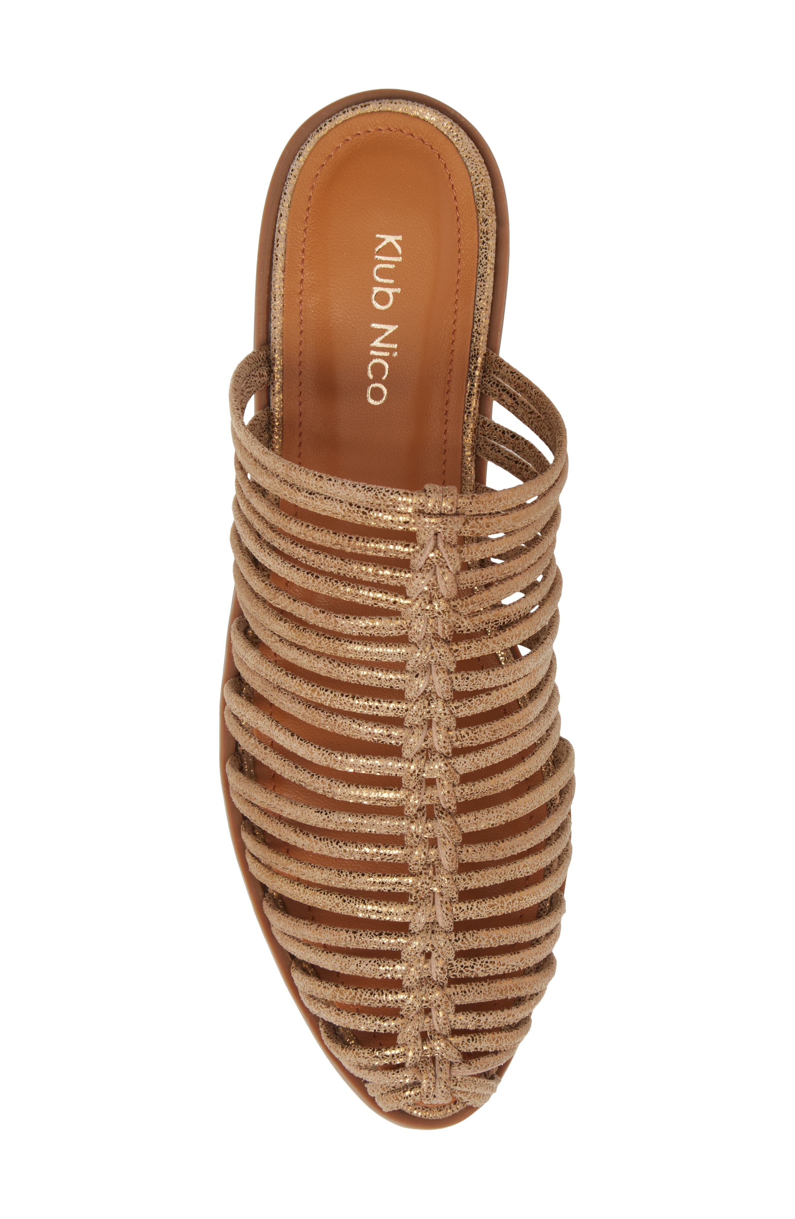 Geonna Sandal,                             Alternate thumbnail 5, color,                             Bronze Suede