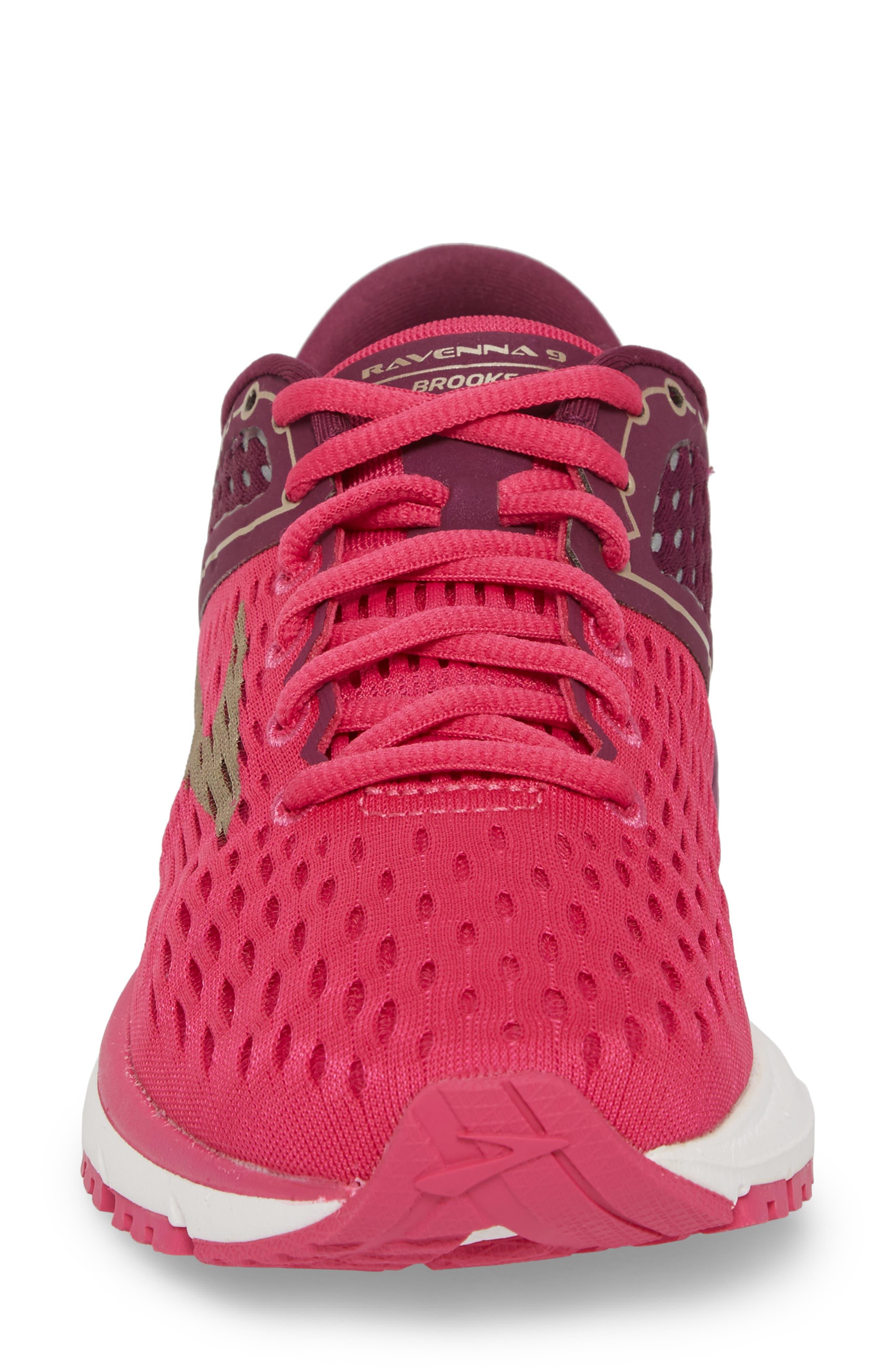Ravenna 9 Running Shoe,                             Alternate thumbnail 4, color,                             Pink/ Plum/ Champagne
