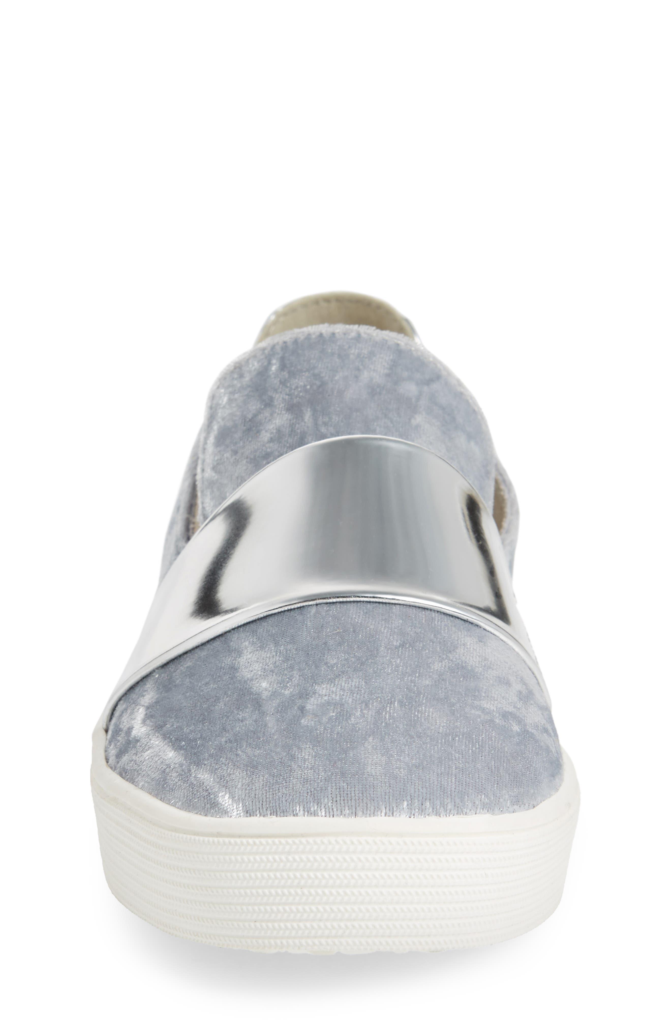 Vance Slip-On Sneaker,                             Alternate thumbnail 4, color,                             Silver