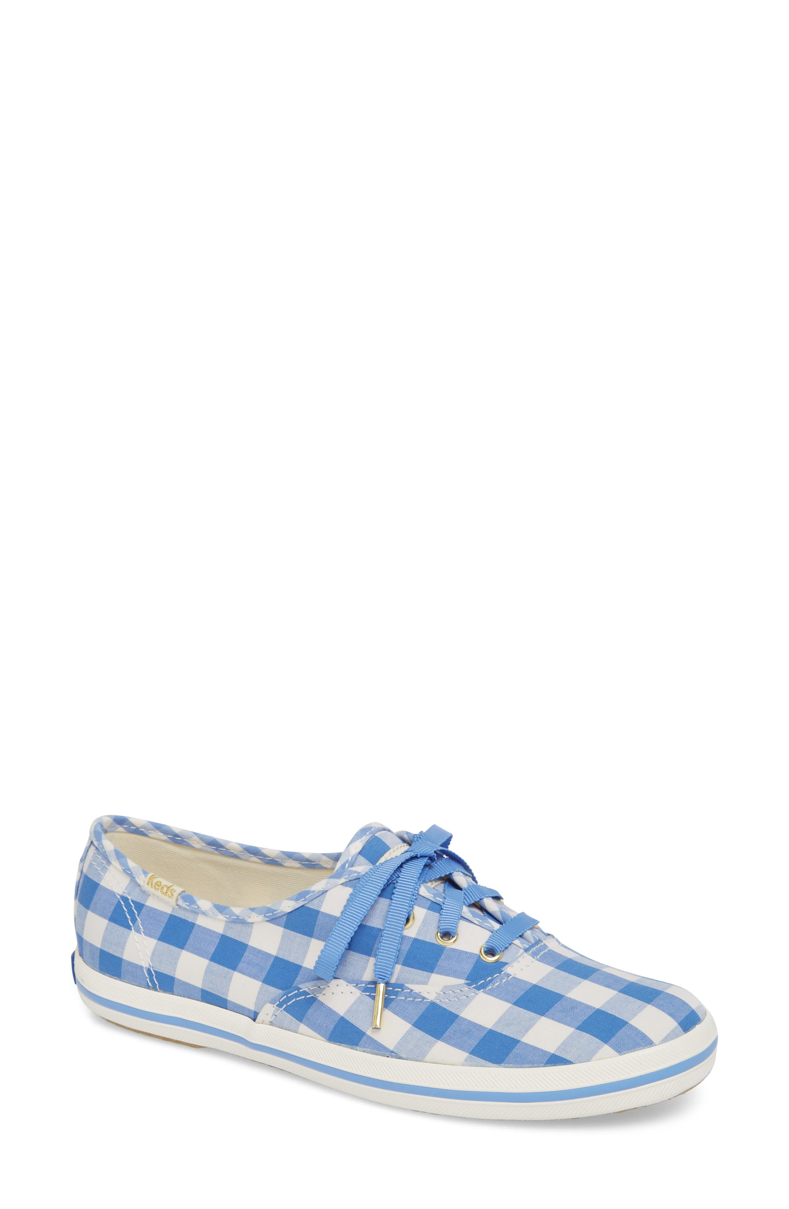 champion gingham sneaker,                         Main,                         color, Periwinkle