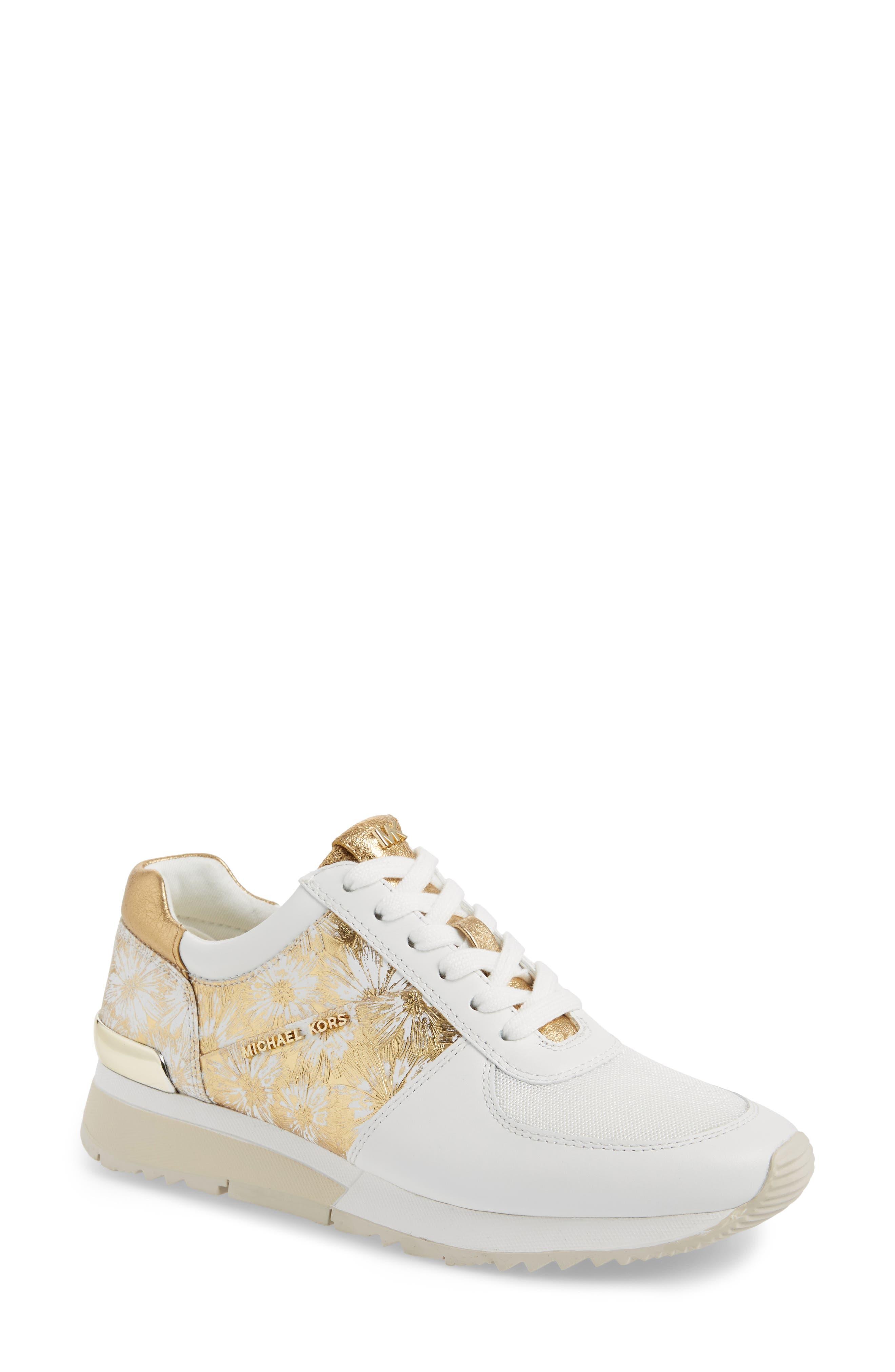 'Allie' Sneaker,                         Main,                         color, Gold