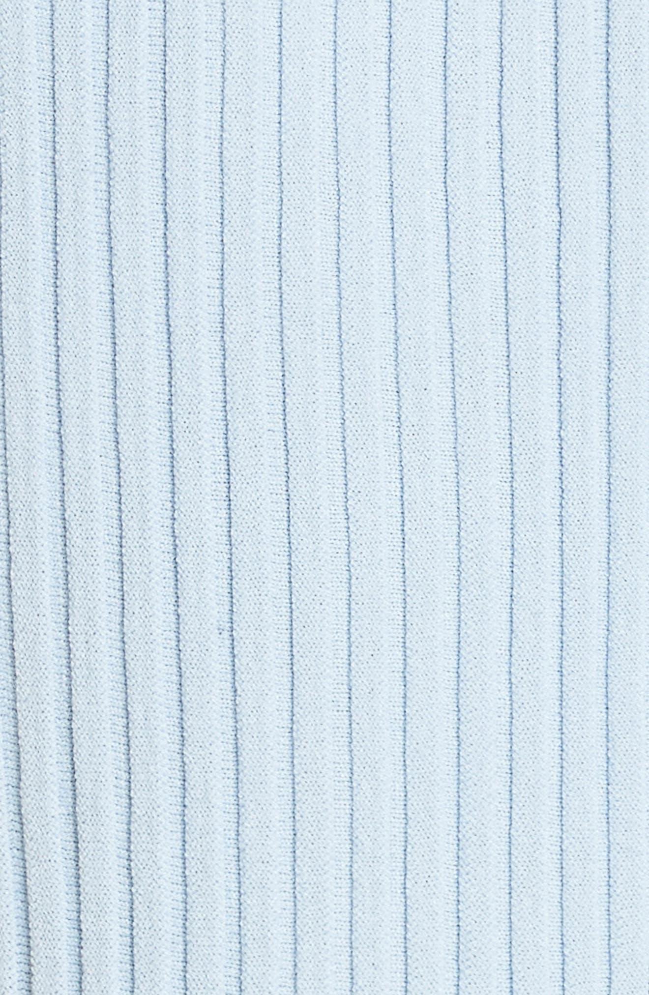 Intarsia Ribbed Body-Con Dress,                             Alternate thumbnail 5, color,                             Blue Multi