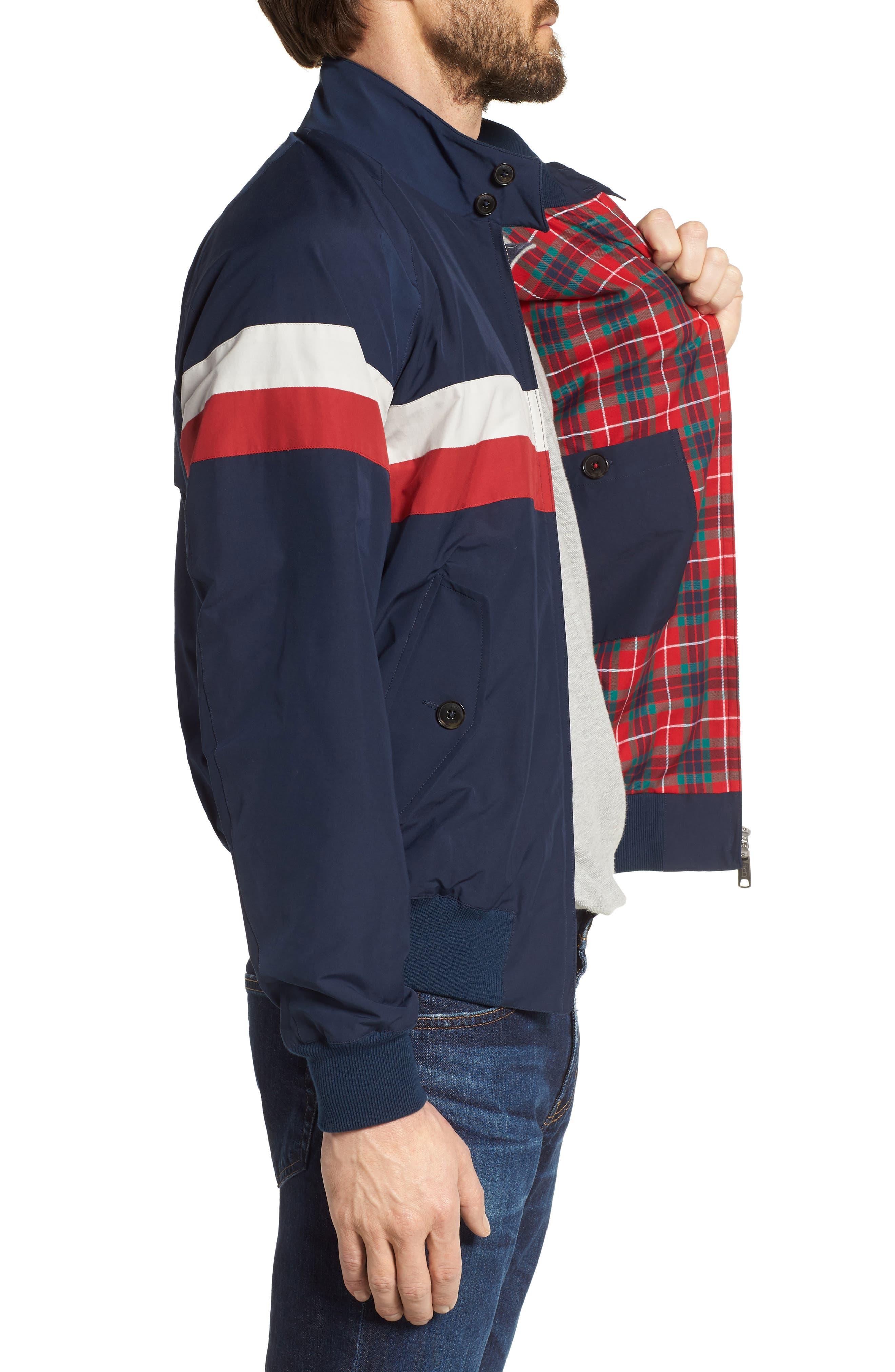 G9 Varsity Jacket,                             Alternate thumbnail 3, color,                             Navy