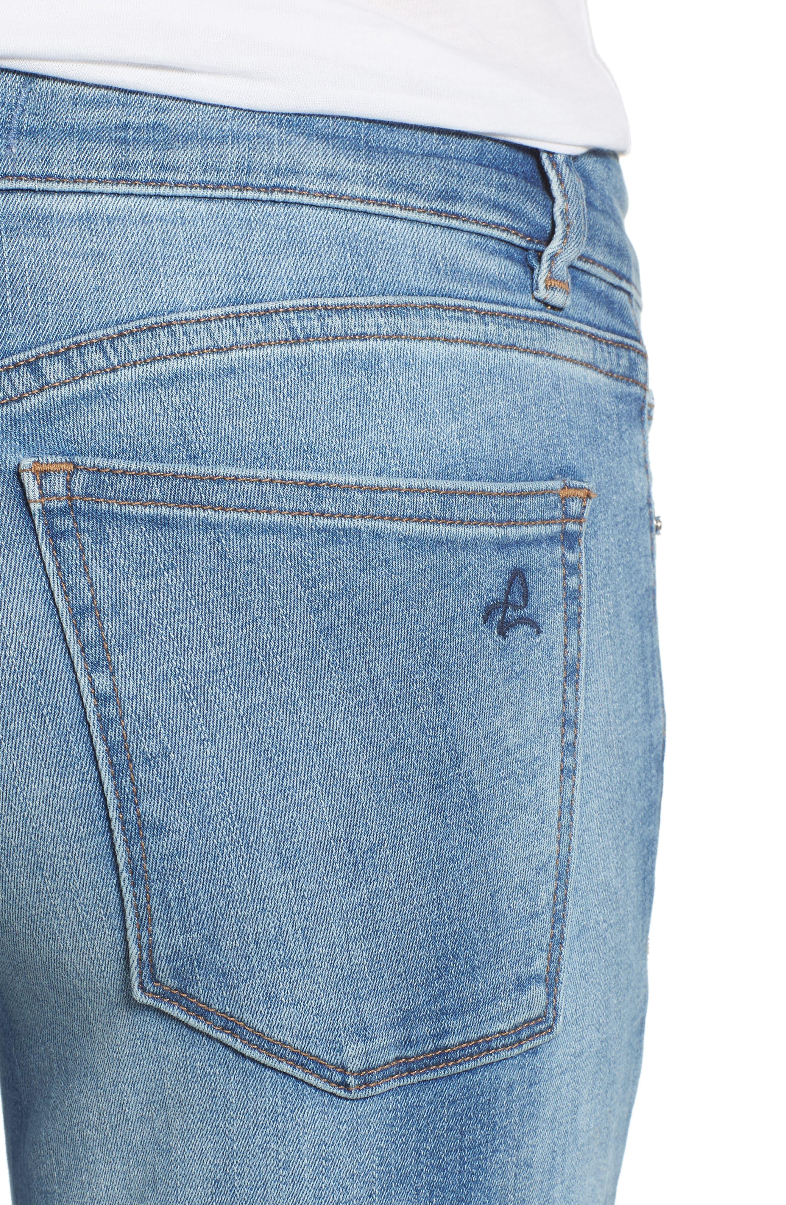 Florence Instasculpt Crop Skinny Jeans,                             Alternate thumbnail 4, color,                             Cavalier
