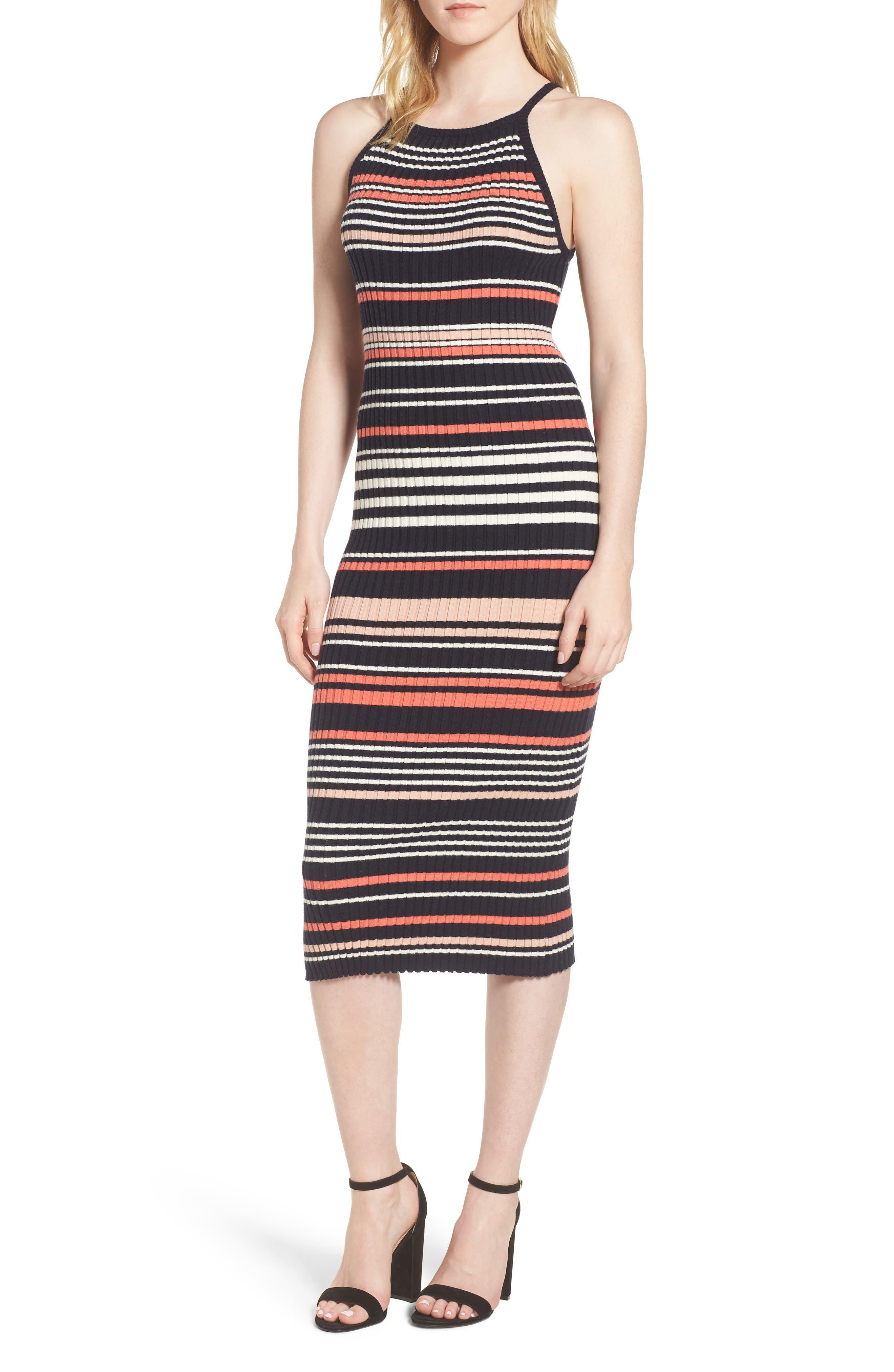 Dani Sweater Knit Midi Dress,                         Main,                         color, Ink