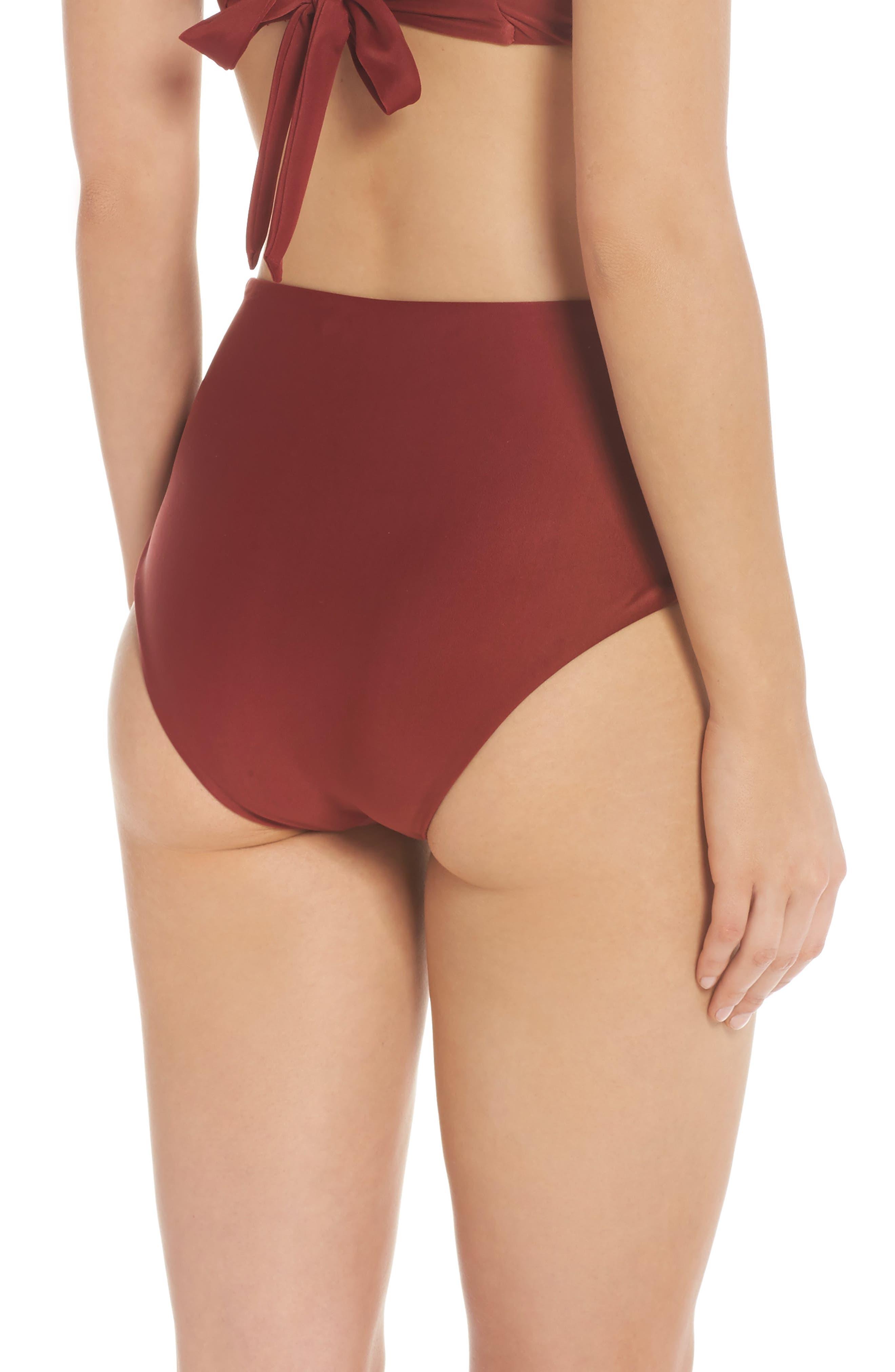 Alternate Image 2  - BCA Love Letters High Waist Bikini Bottoms