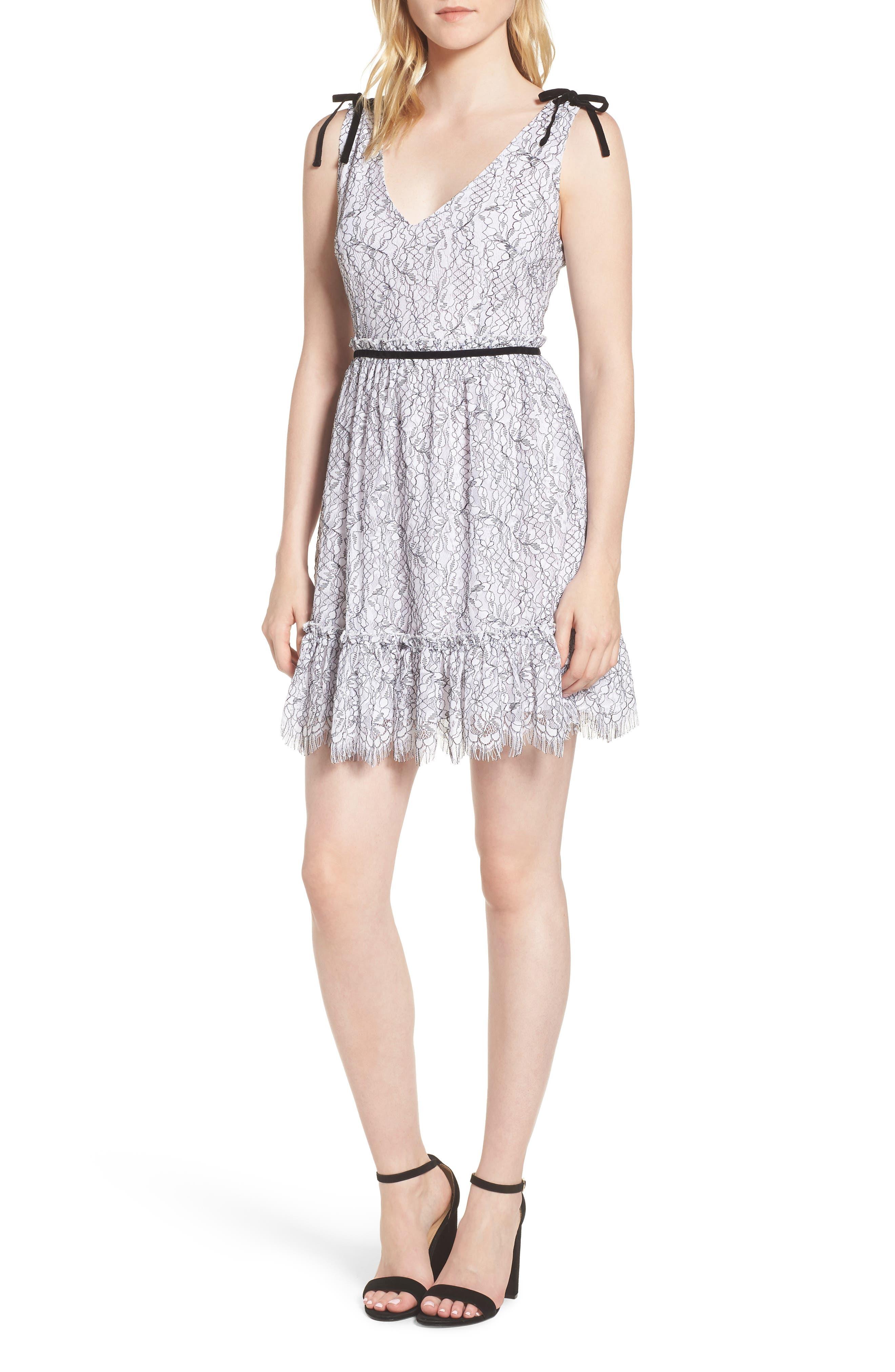 Ezzy Lace Dress,                             Main thumbnail 1, color,                             Ivory