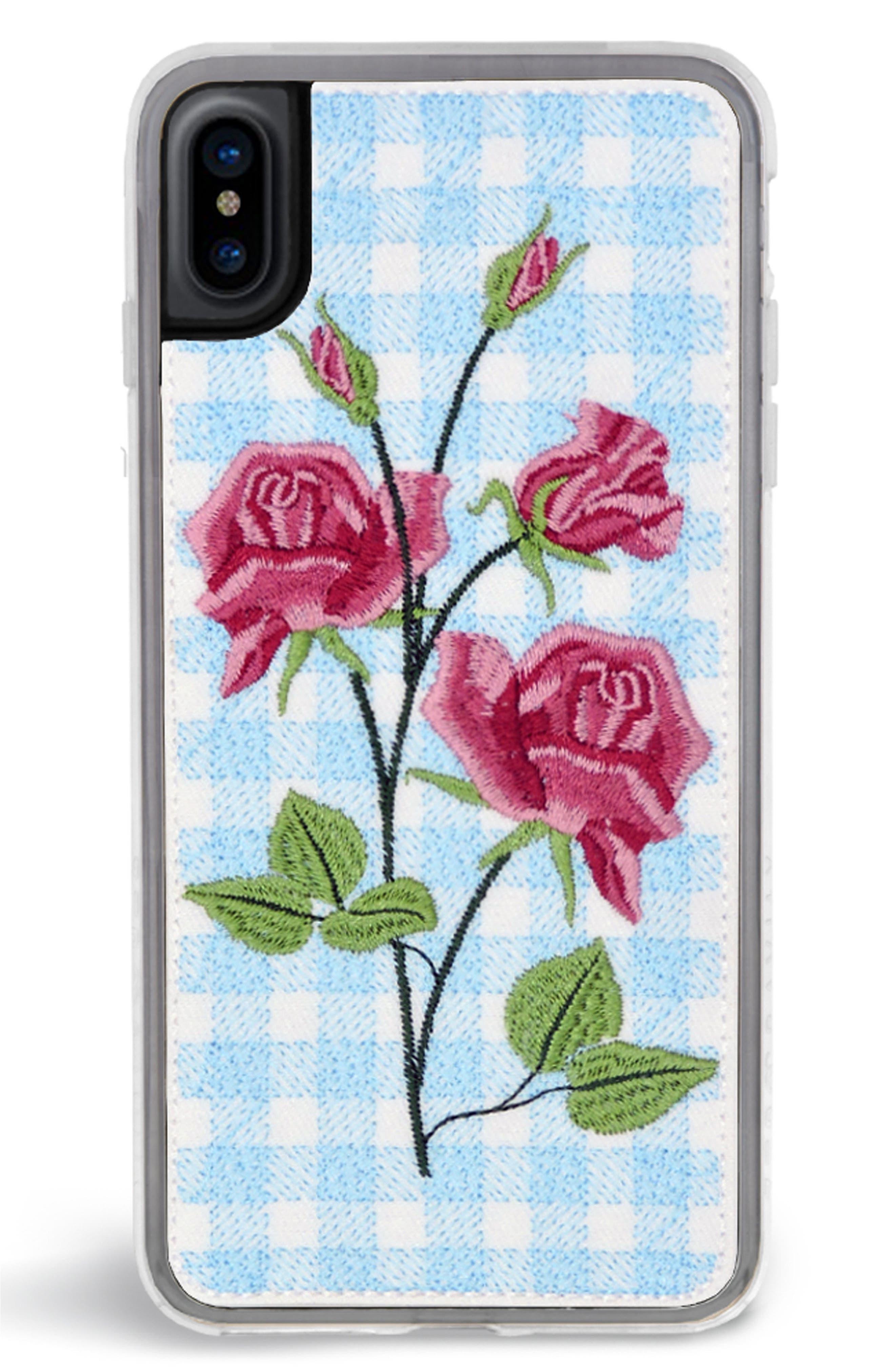 Bardot iPhone X Case,                         Main,                         color, Blue Multi