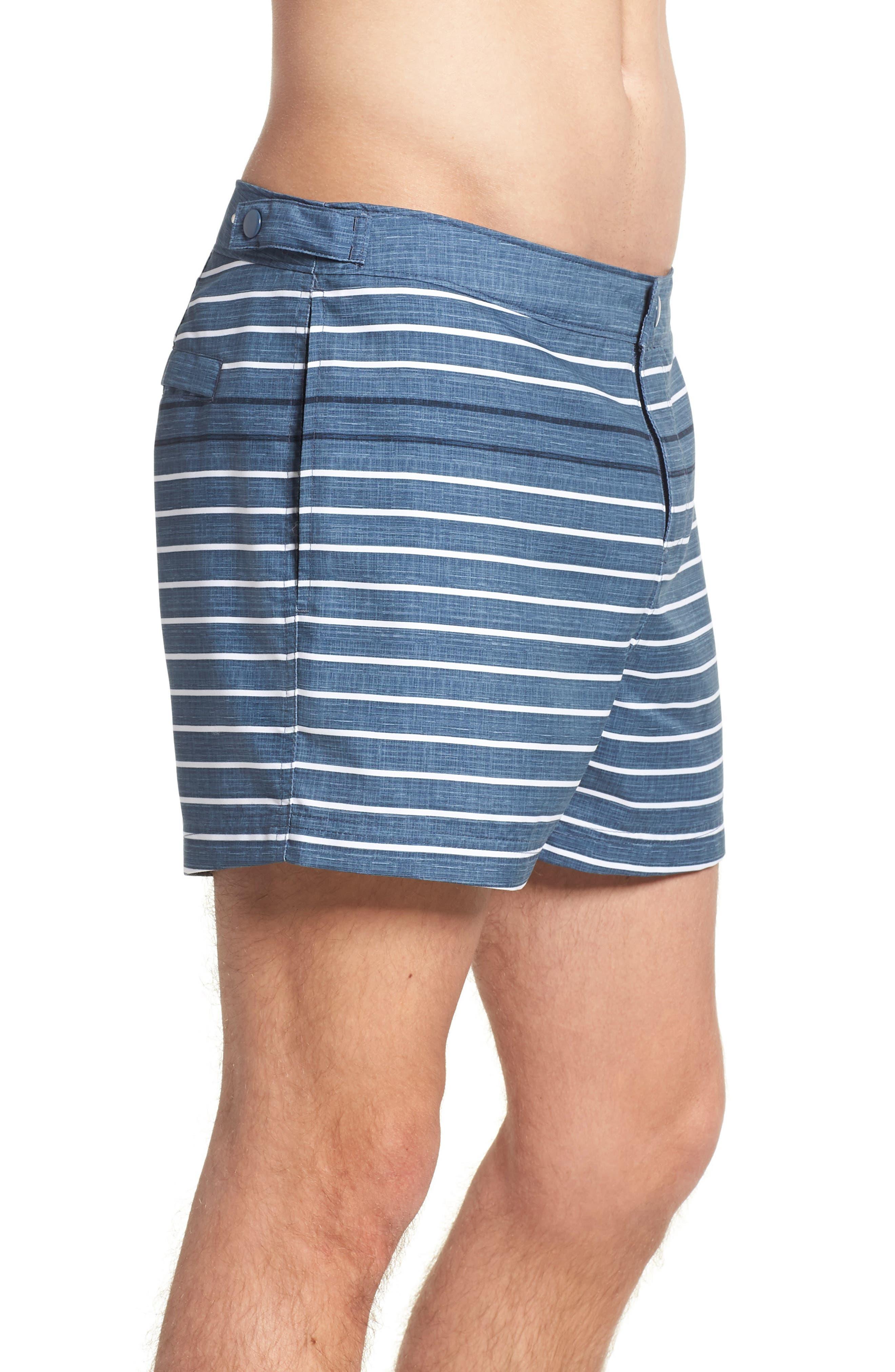 Feeder Stripe Board Shorts,                             Alternate thumbnail 3, color,                             Vintage Indigo