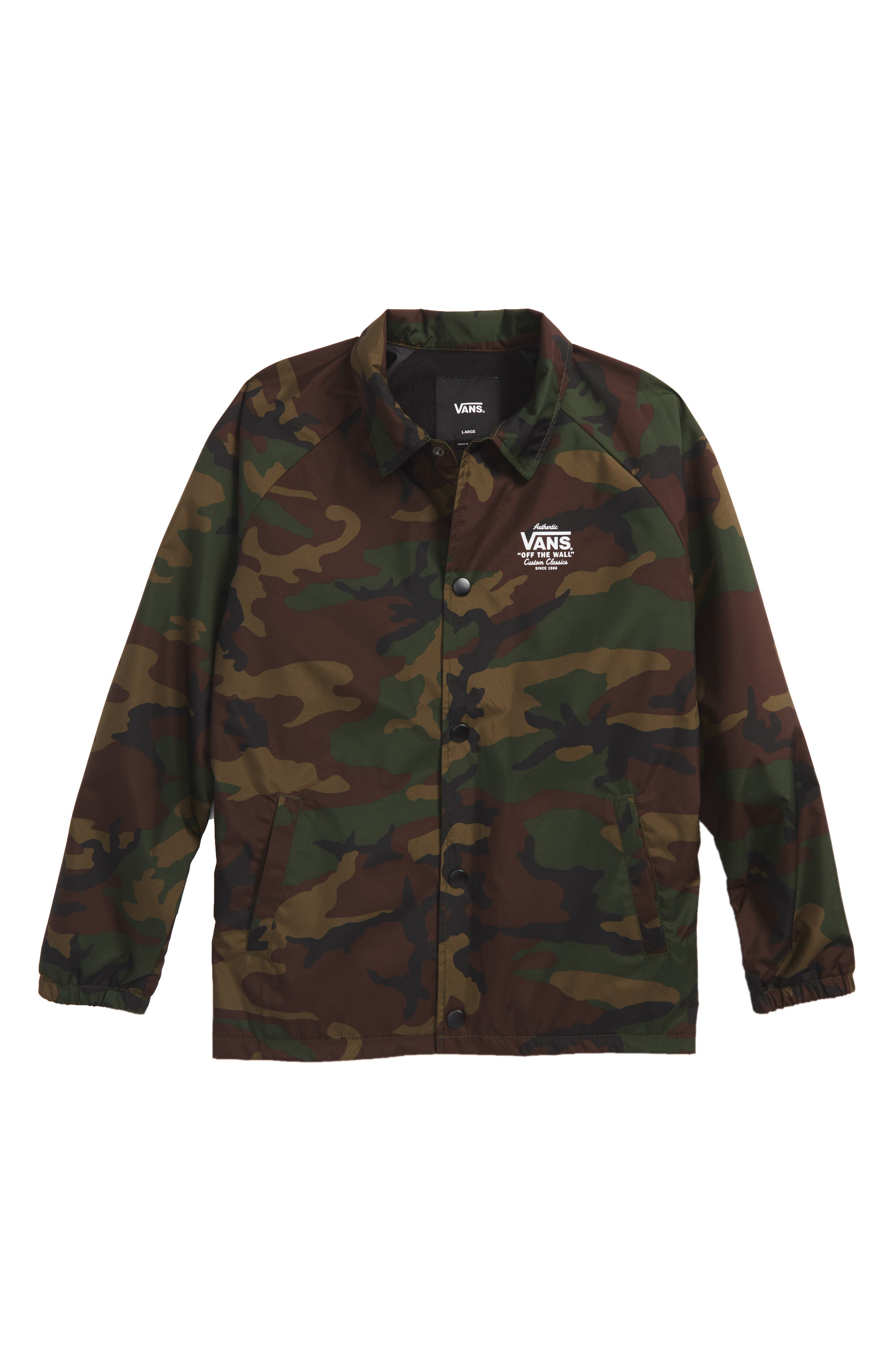 Vans Torrey Camo Jacket (Big Boys)