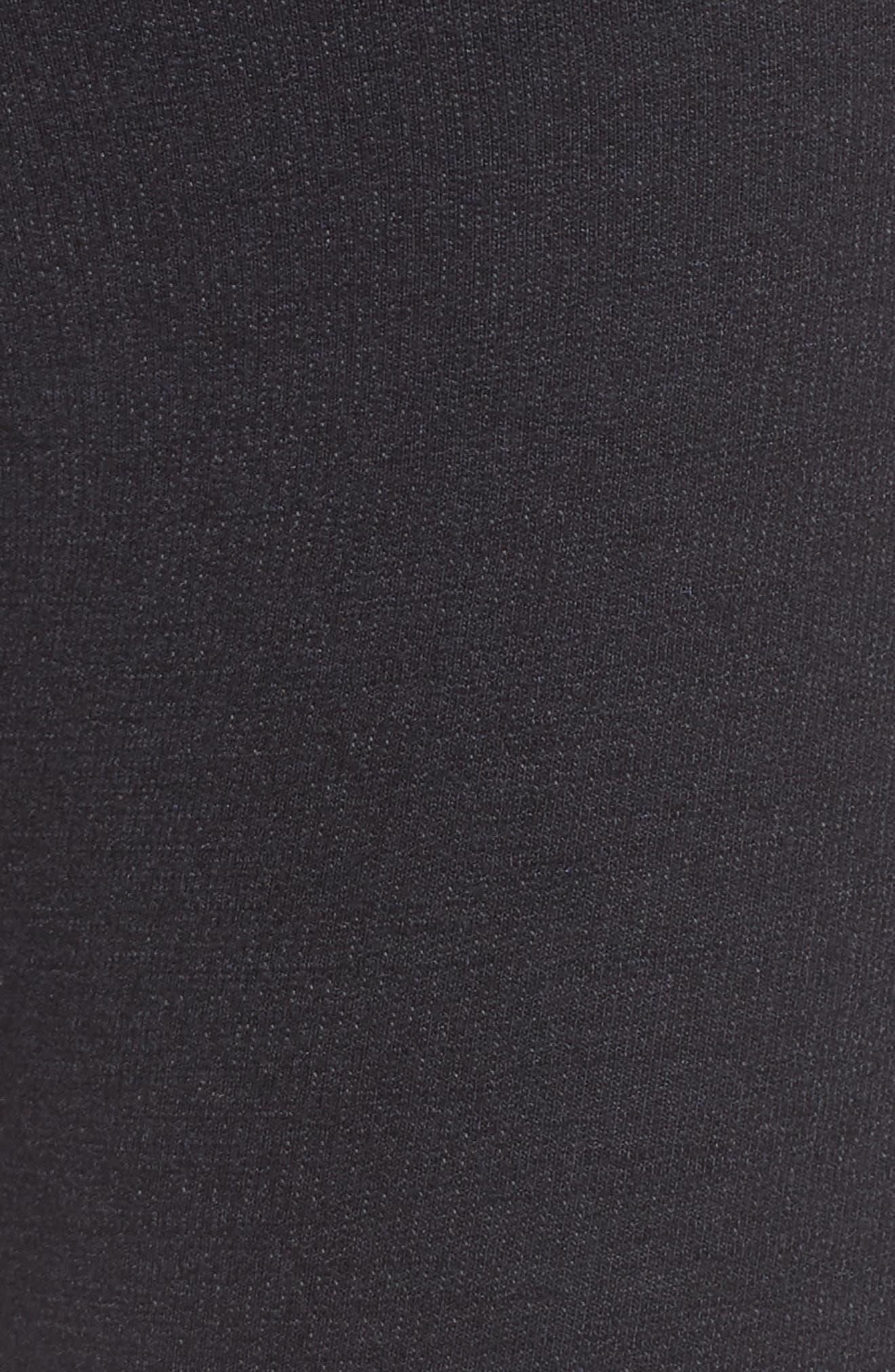Stripe Yoga Pants,                             Alternate thumbnail 6, color,                             Old Black