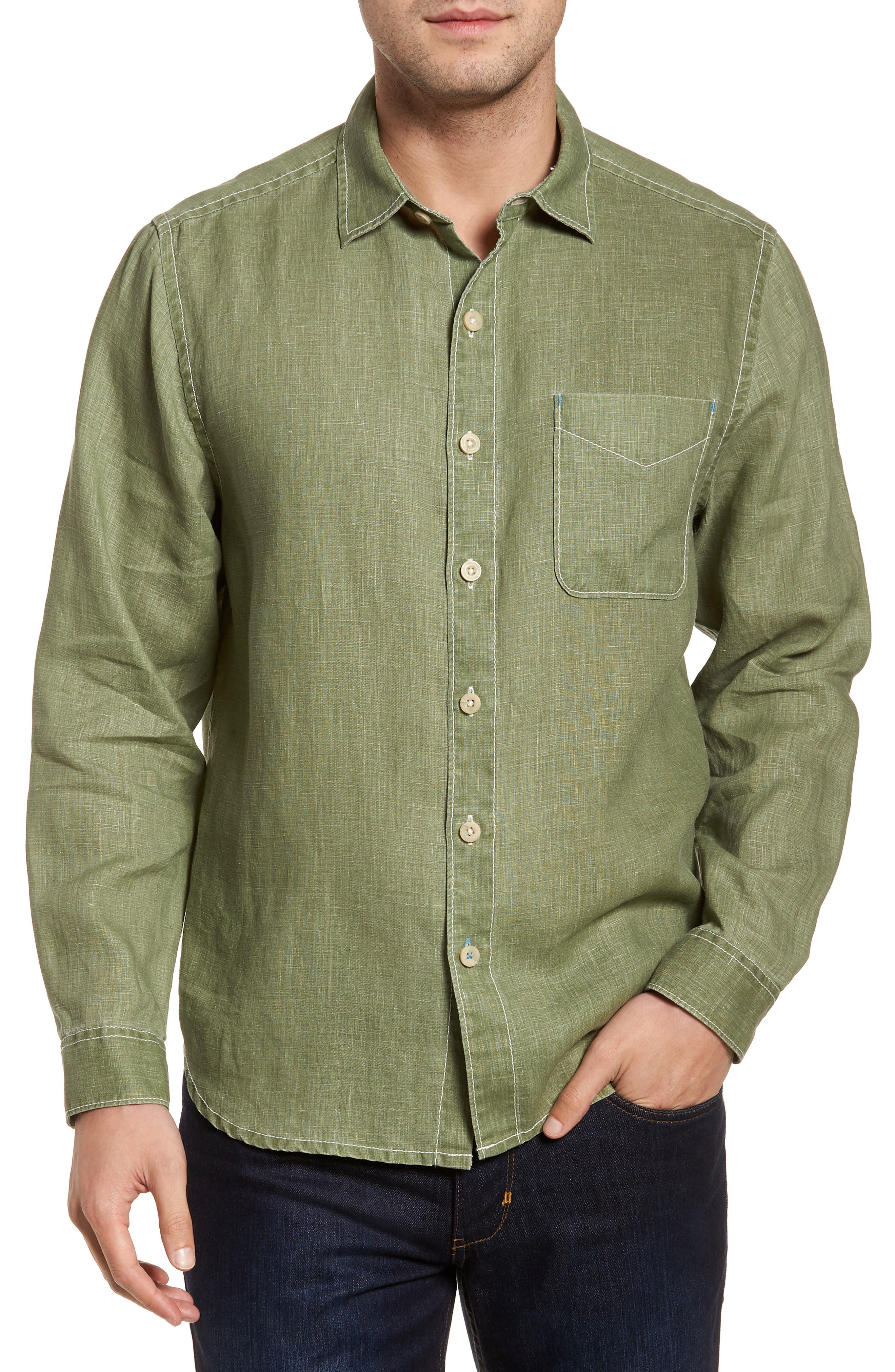 Tommy Bahama Sea Glass Breezer Linen Sport Shirt