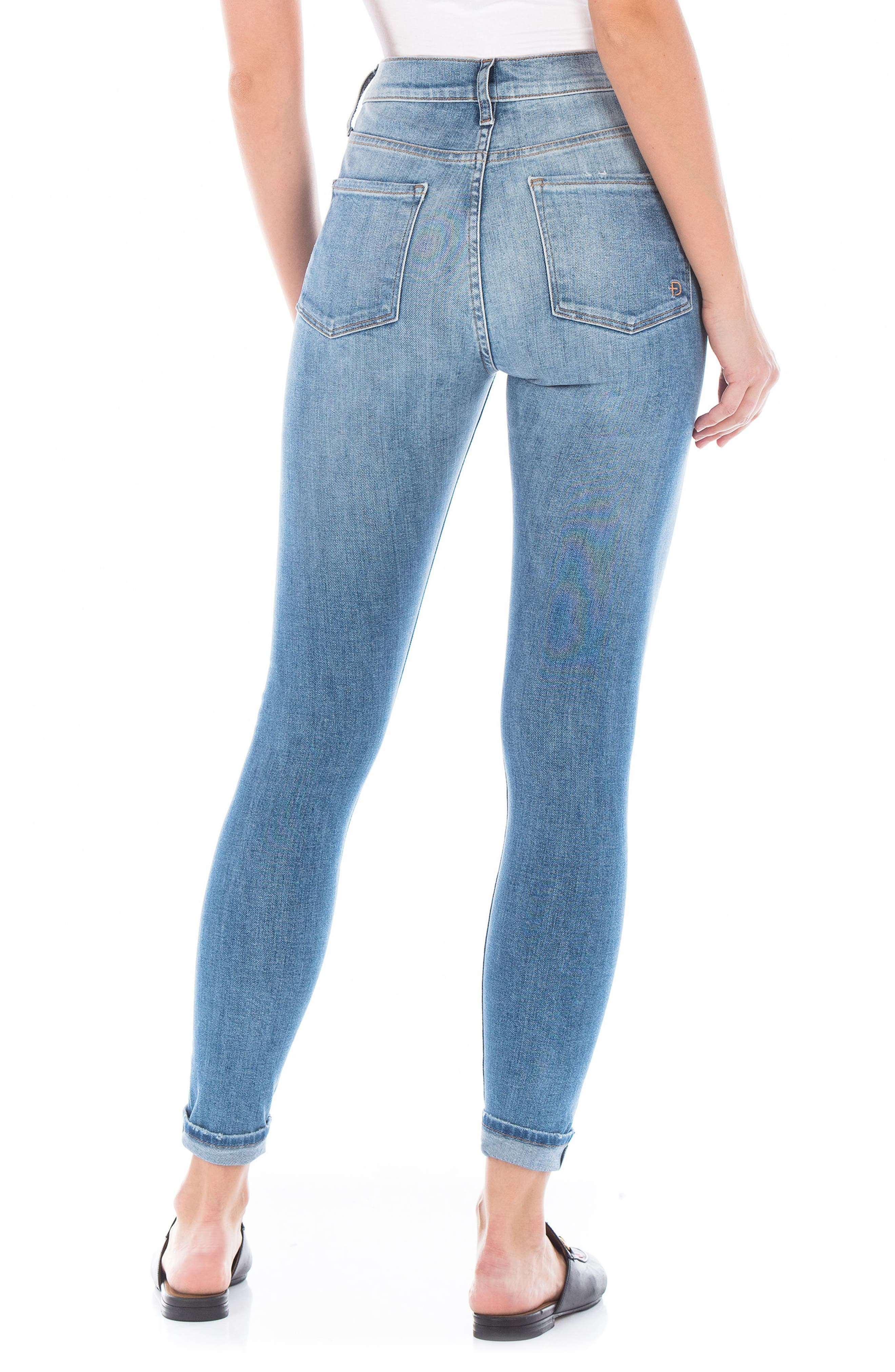 Gwen High Waist Skinny Jeans,                             Alternate thumbnail 2, color,                             76 Summer
