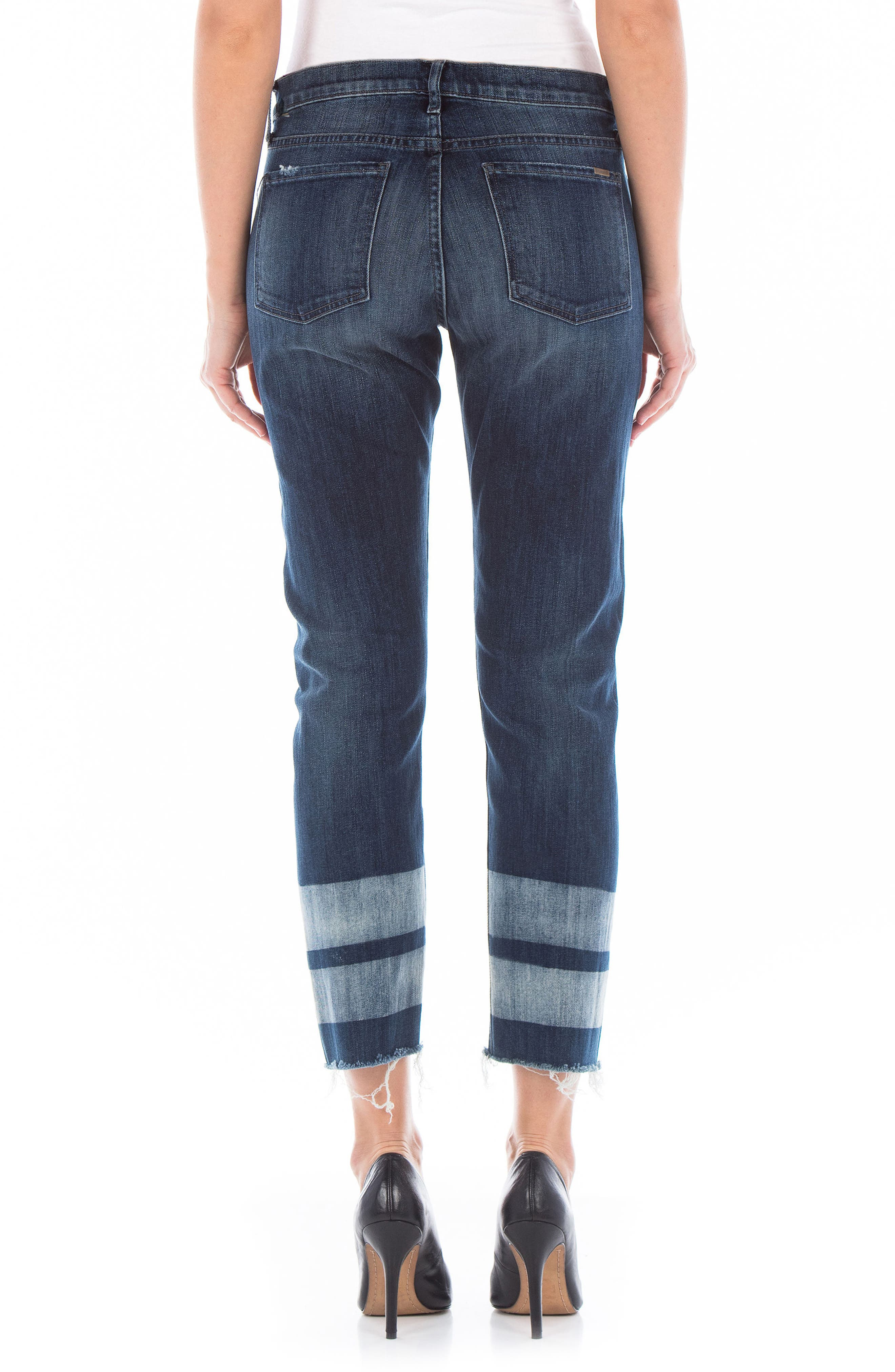 Alternate Image 2  - Fidelity Denim Stevie Crop Straight Leg Jeans (Cascade)