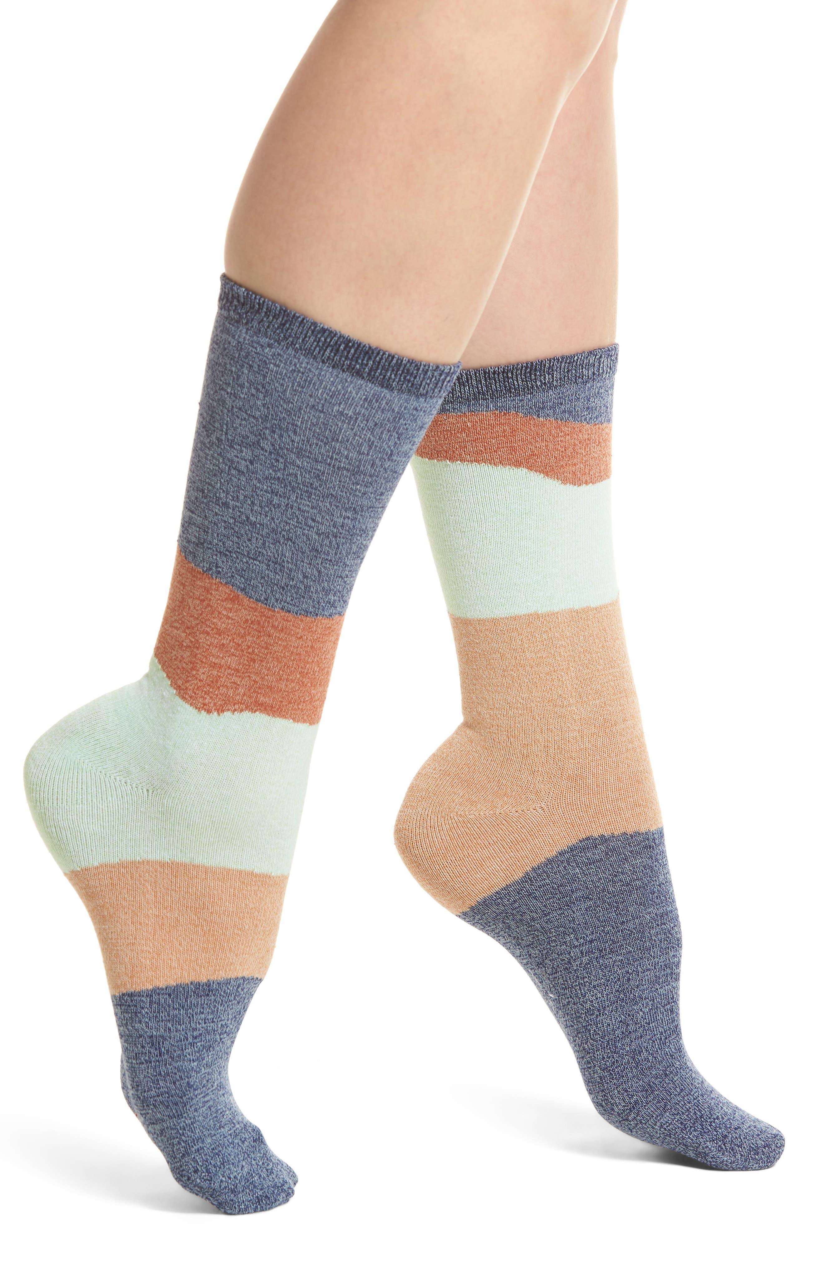 Addie Classic Crew Socks,                             Main thumbnail 1, color,                             Navy