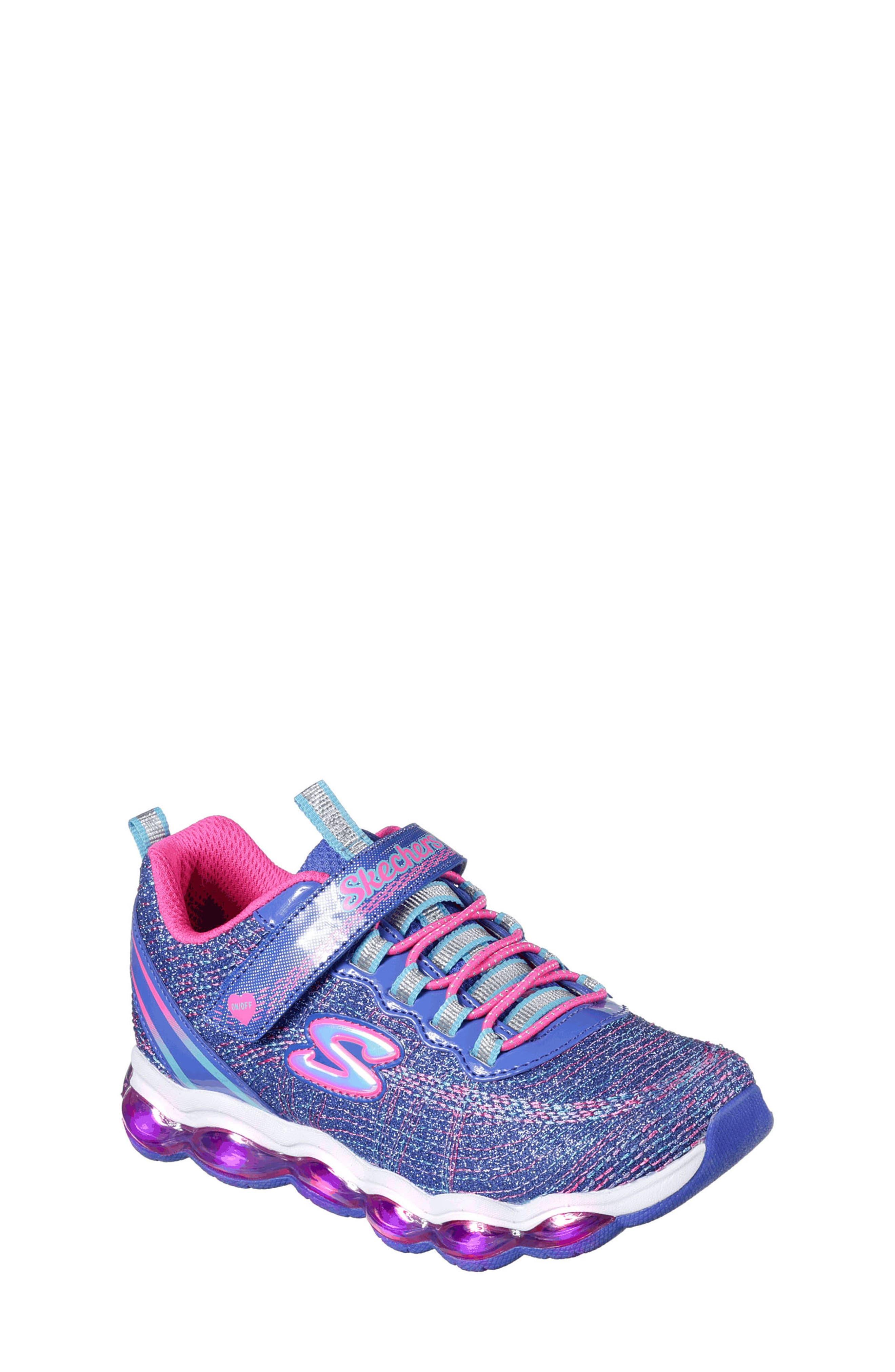Alternate Image 1 Selected - SKECHERS Glimmer Lights Sneakers (Toddler & Little Kid)