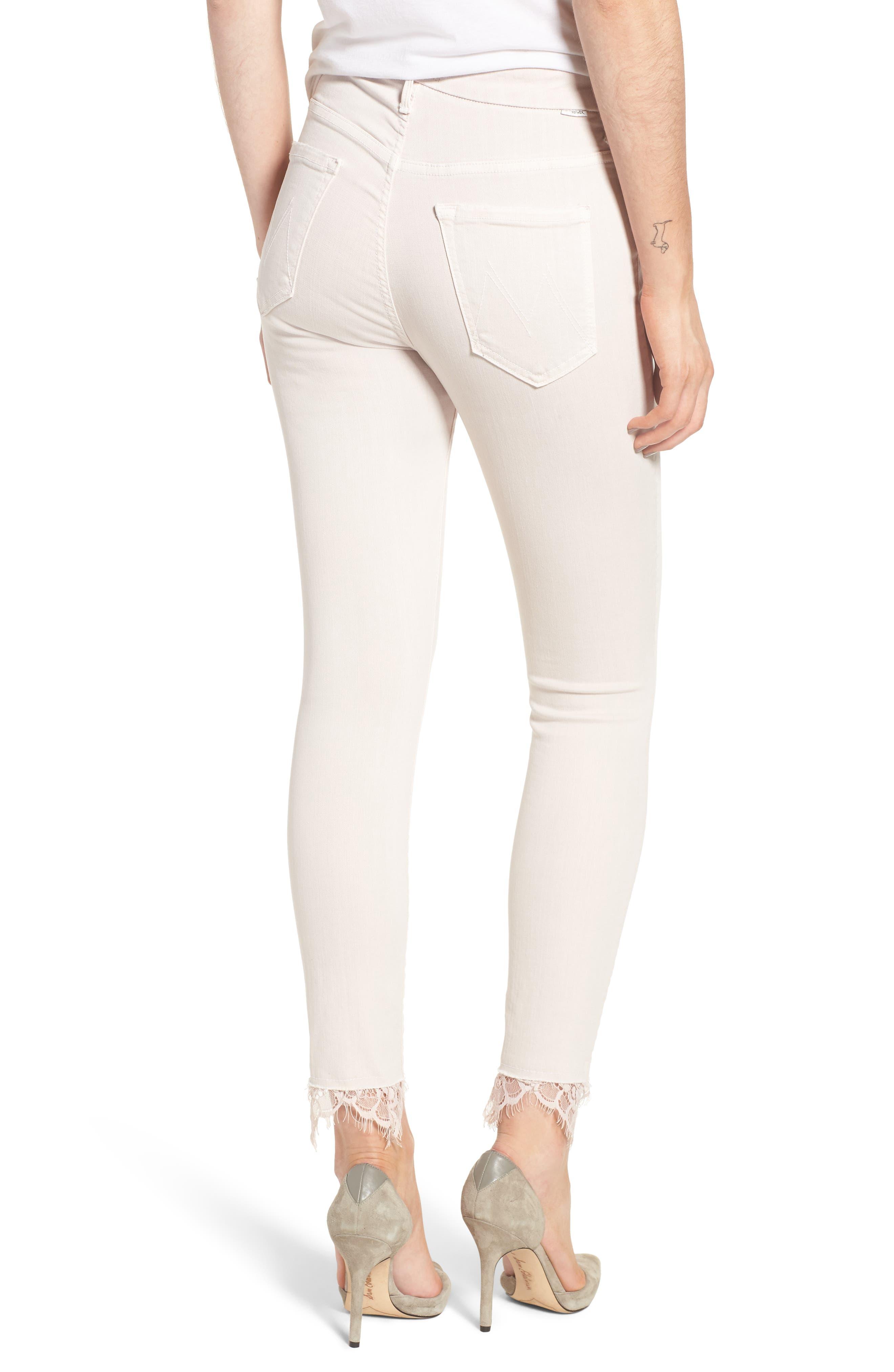The Looker Dagger High Waist Ankle Skinny Jeans,                             Alternate thumbnail 2, color,                             Blush