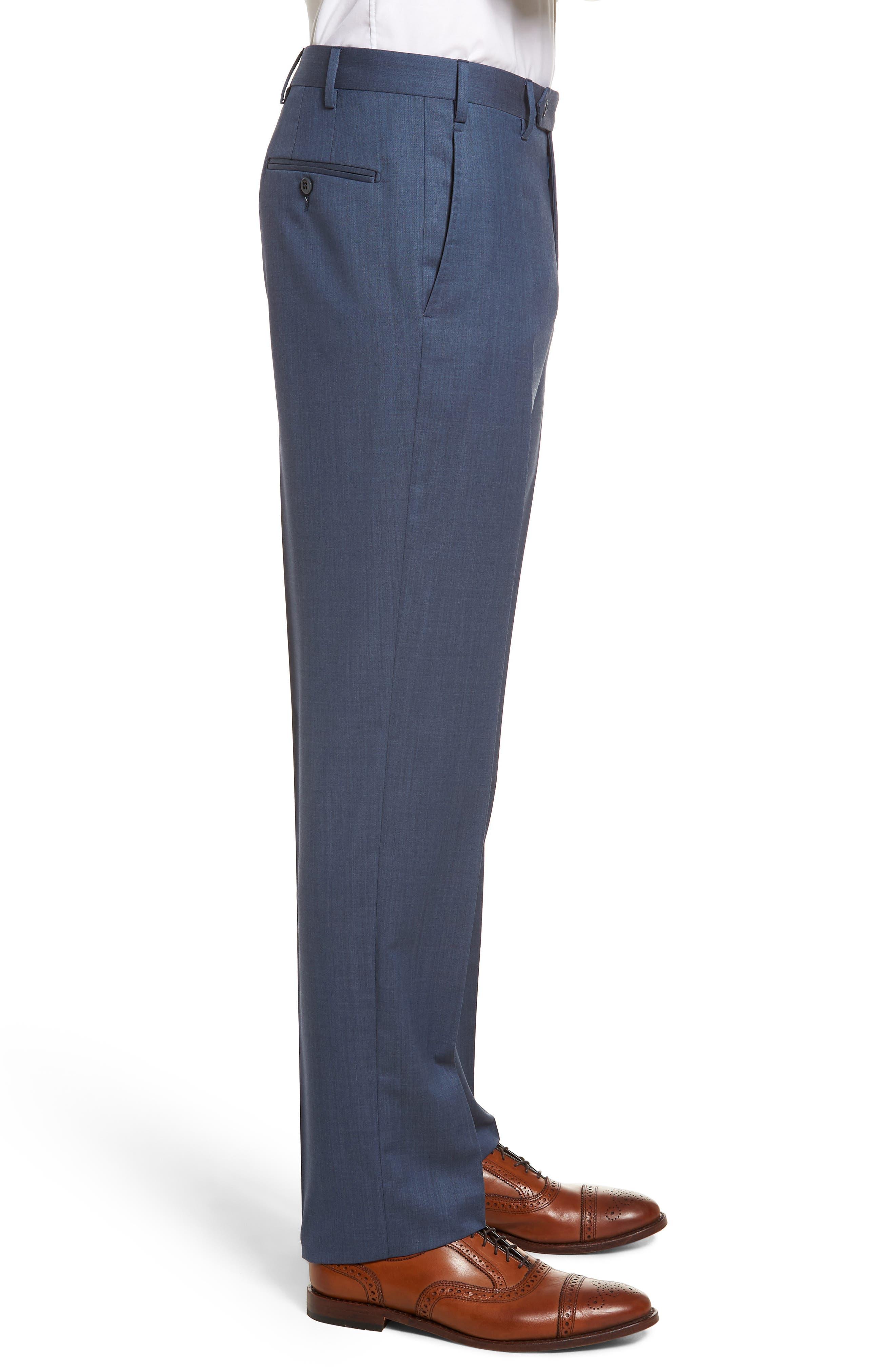 Alternate Image 6  - Zanella Devon Flat Front Solid Wool Serge Trousers