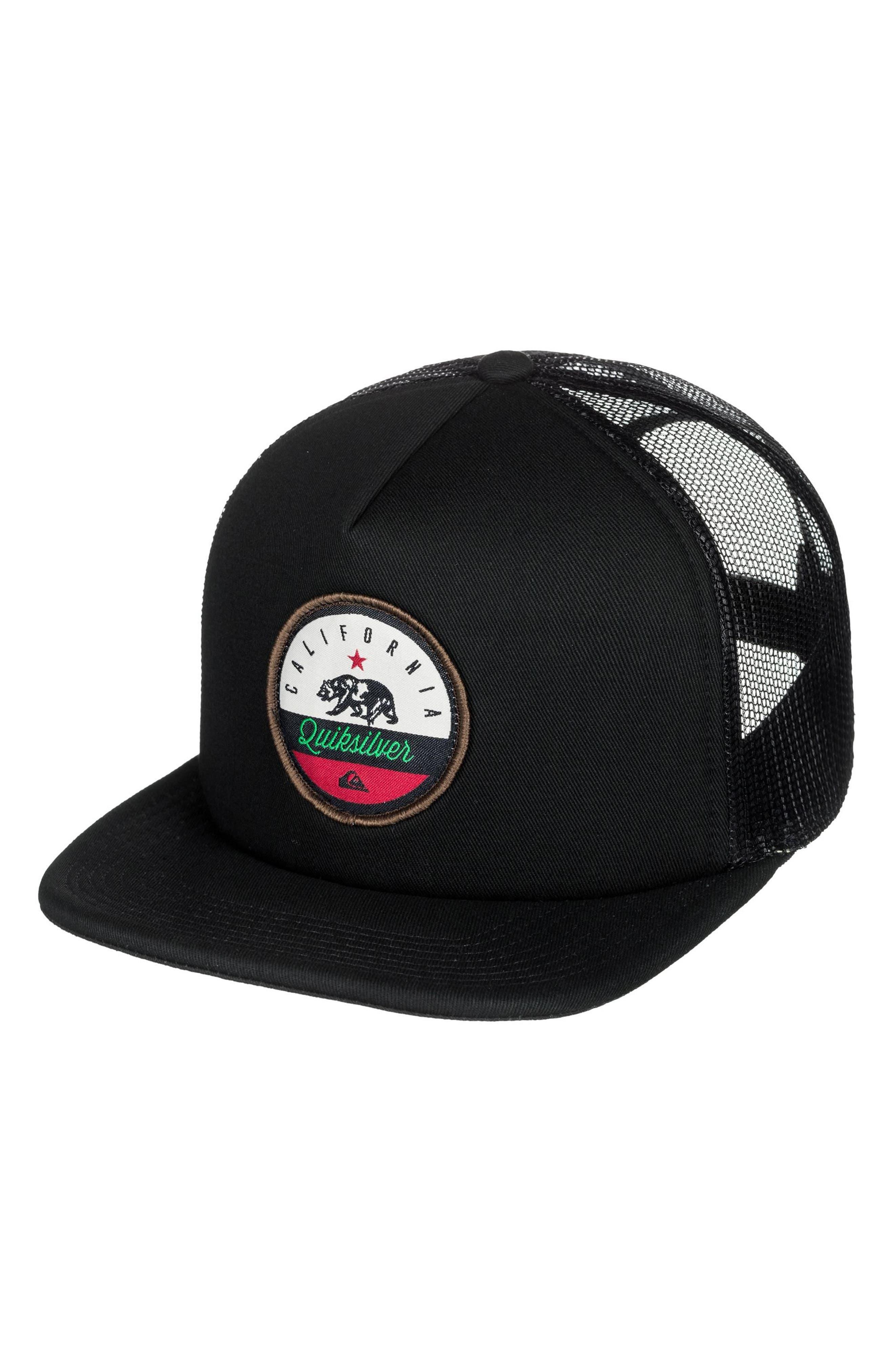 Cali Bear Logo Cap,                         Main,                         color, Black